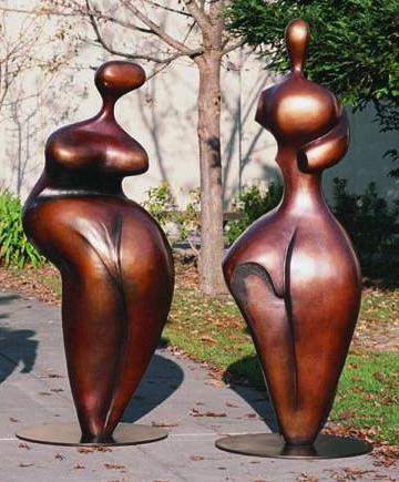Adam and Eve - Robert Holmes sculpture