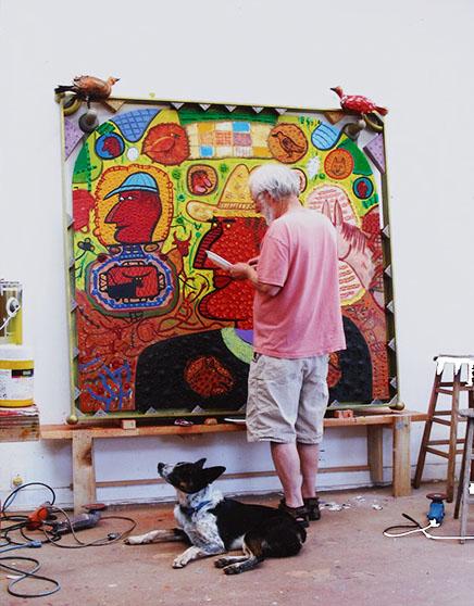Roy De Forest painting
