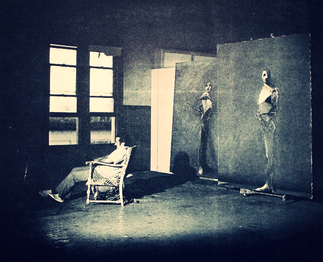 Nathan in his Palo Alto studio 1978
