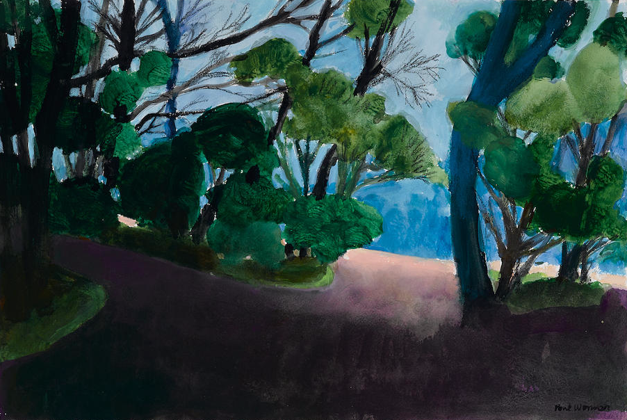 "Paul Wonner - 22""x15"" mixed media on paper"