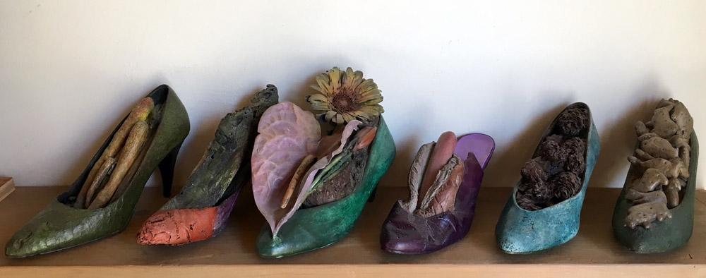 Steve Tobin - various bronze shoes, all unique single castings - inquire