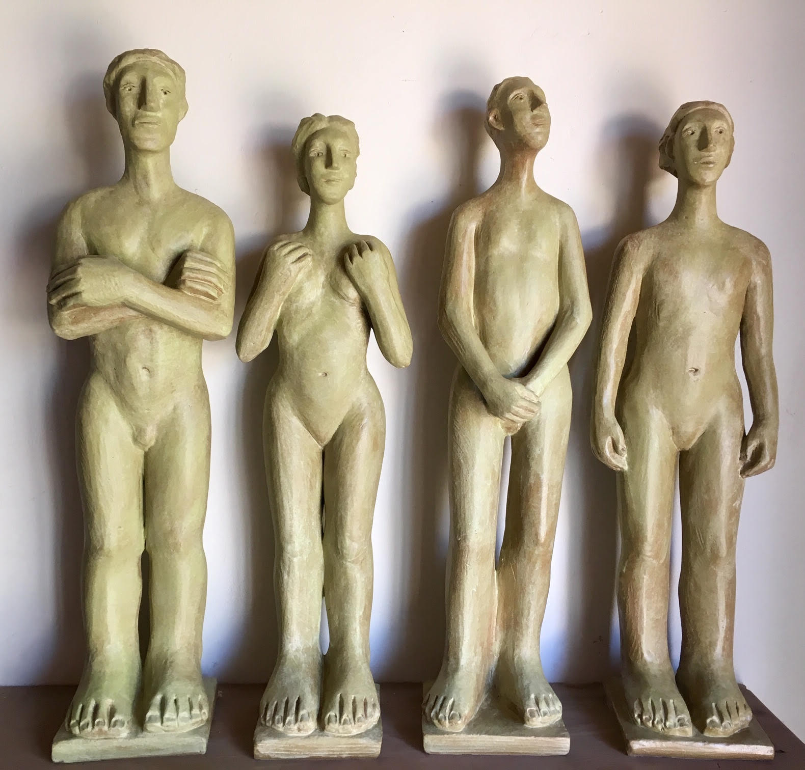 "Mavis McClure - various mid-sized clay figures ~27""h"