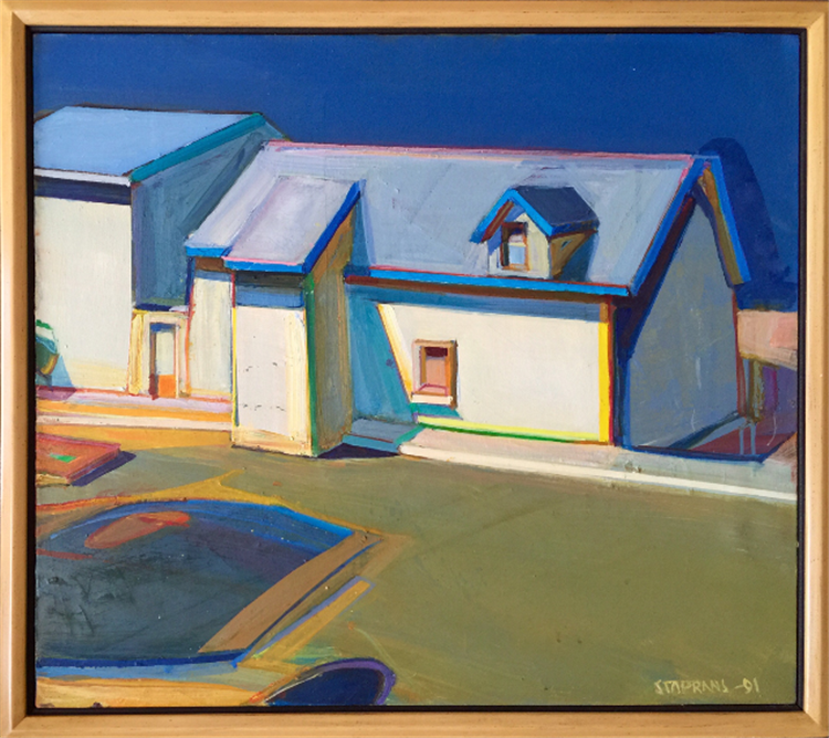 Raimonds Staprans house with blue trim - available