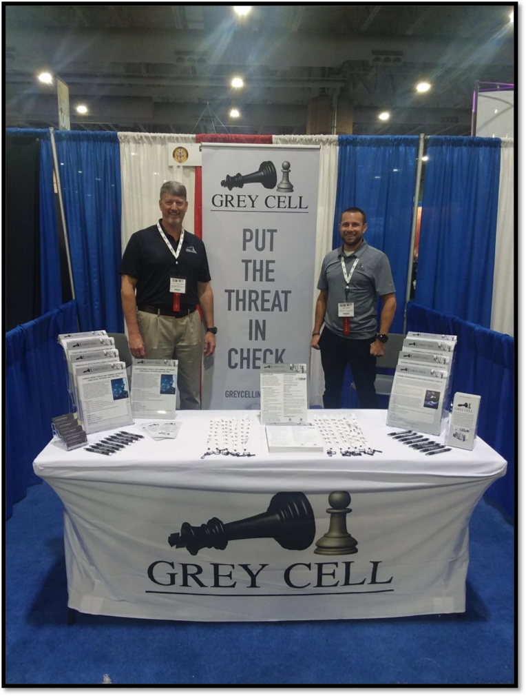 The Grey Cell Booth at the 33rd Annual Police Security Expo
