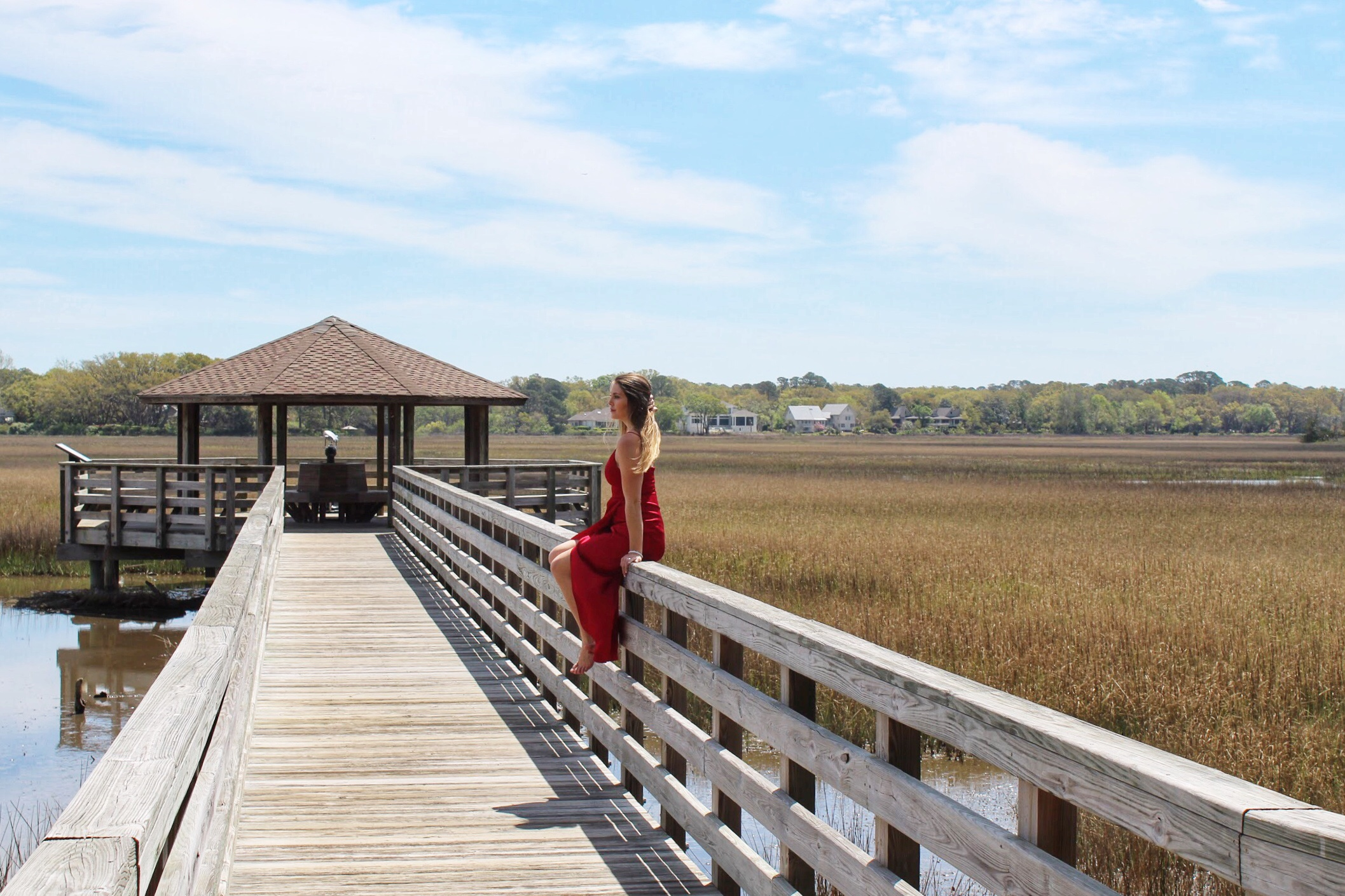 The fish Haul Creek marshes and pier.
