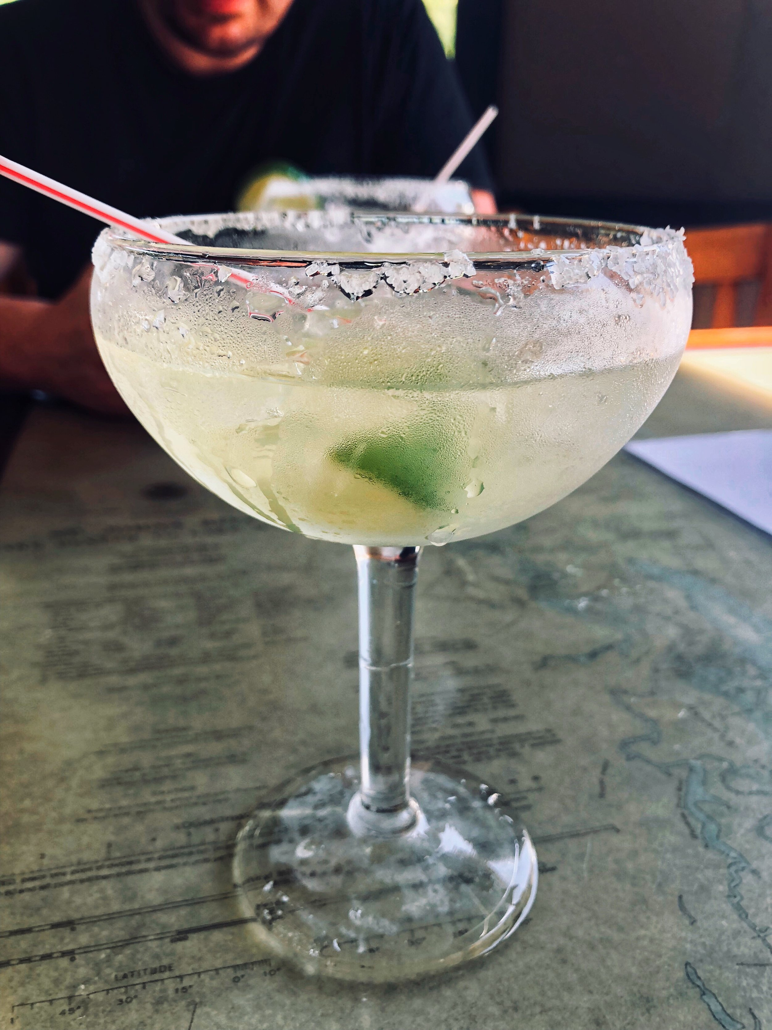 That's the sizable margarita from the Main Street Pub & Cafe for $3 and change.