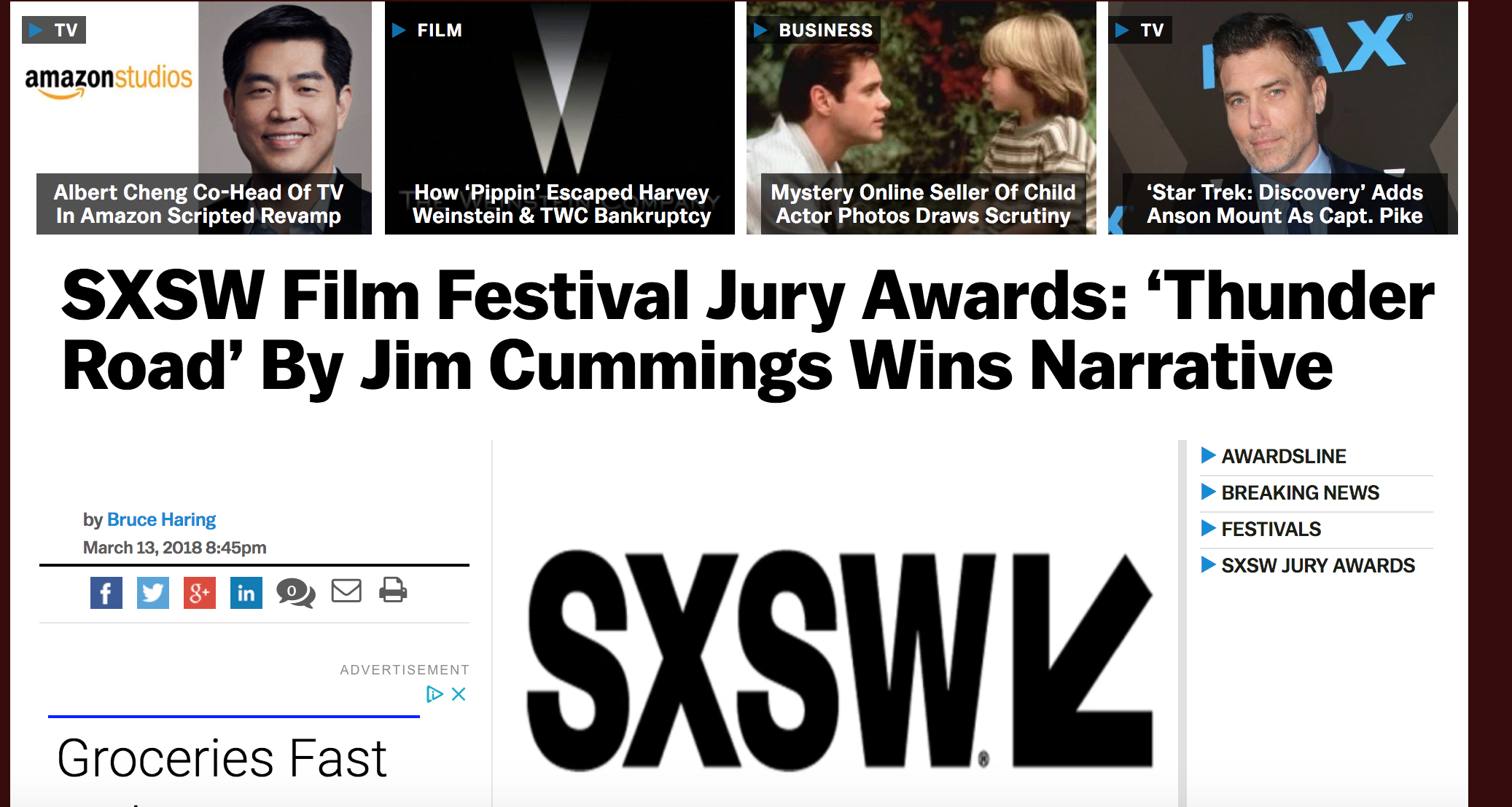 SXSW Film Festival Jury Awards