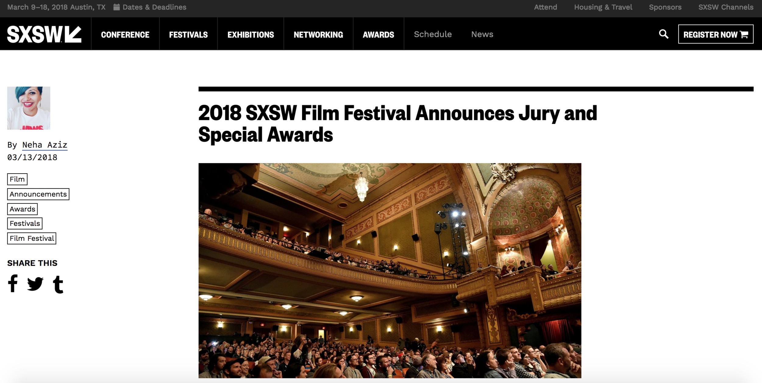 2018 SXSW Film Festival Announces Jury And Special Awards