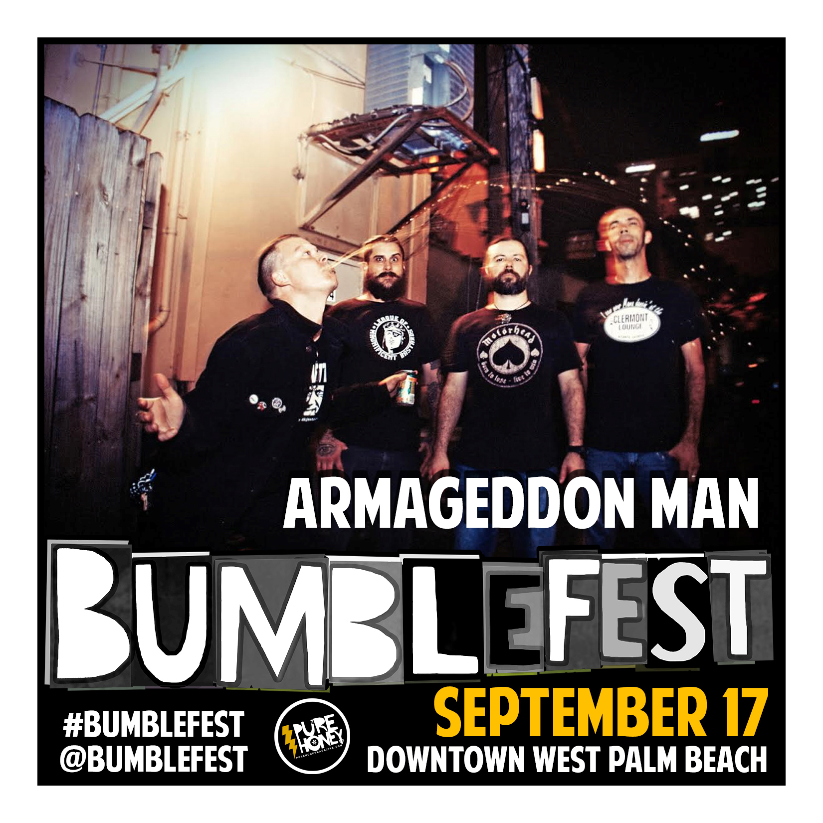 Armageddon Man – What might be were Sam Kinison's ghost to come back and front a punk band? Straight ahead, manic, unfettered, and raw punk-rock in the South Florida tradition. ~ DVB  -