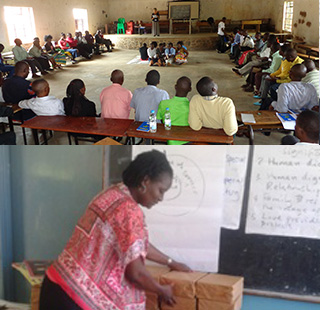 Moira Chimombo and Cathy Cheonga,  teamed up  to conduct SAFE's 4-year, Why Wait? Life Skills curriculum training for 100 teachers from 12 private secondary schools in Zomba and Machinga districts. These teachers will be impacting the lives of thousands of students in their classrooms with this Biblical worldview training!