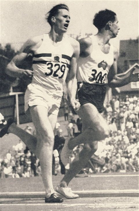 In heroic fashion, Bannister passed Landy running down the final stretch. Landy made the mistake of looking back to his left, while Bannister passed him on the outside.