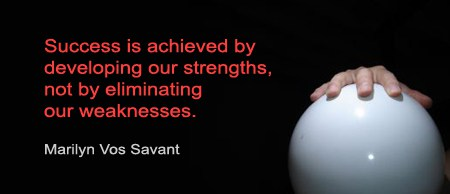 Even this image has a strength and a weakness…is that a bowling ball?