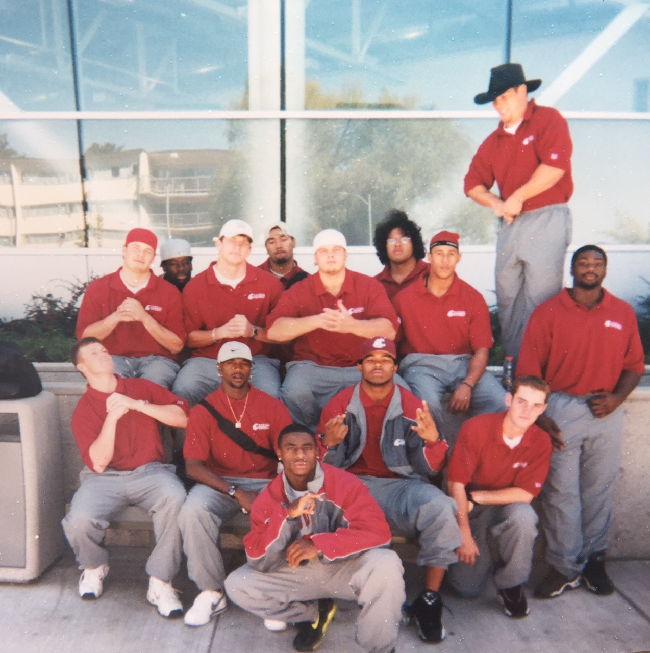 Here we are in front of Bohler. Nice cowboy hat by the way. That's me on the bottom right.