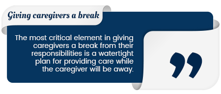 giving caregivers a break quote