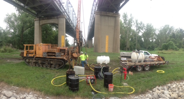 geotechnical engineering   Ensuring the stability and integrity of structures located on geological materials.