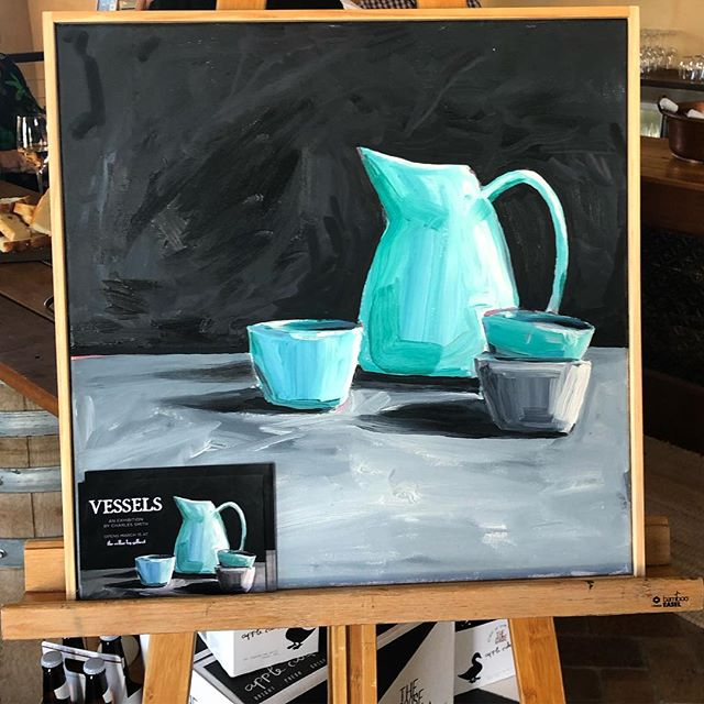Friday evening is best spent with some spectacular new local art, so we popped in to the opening of @charles_smith_art's new collection #vessels in #mudgee. If you missed the opening, you can catch this terrific exhibition for another month  @thecellarbygilbert.  #mudgeeregion #stilllife #painting #regionalnsw #regionalart #regionalatbest #friyay #artandwine #artopening #exhibitionopening #oranaregion