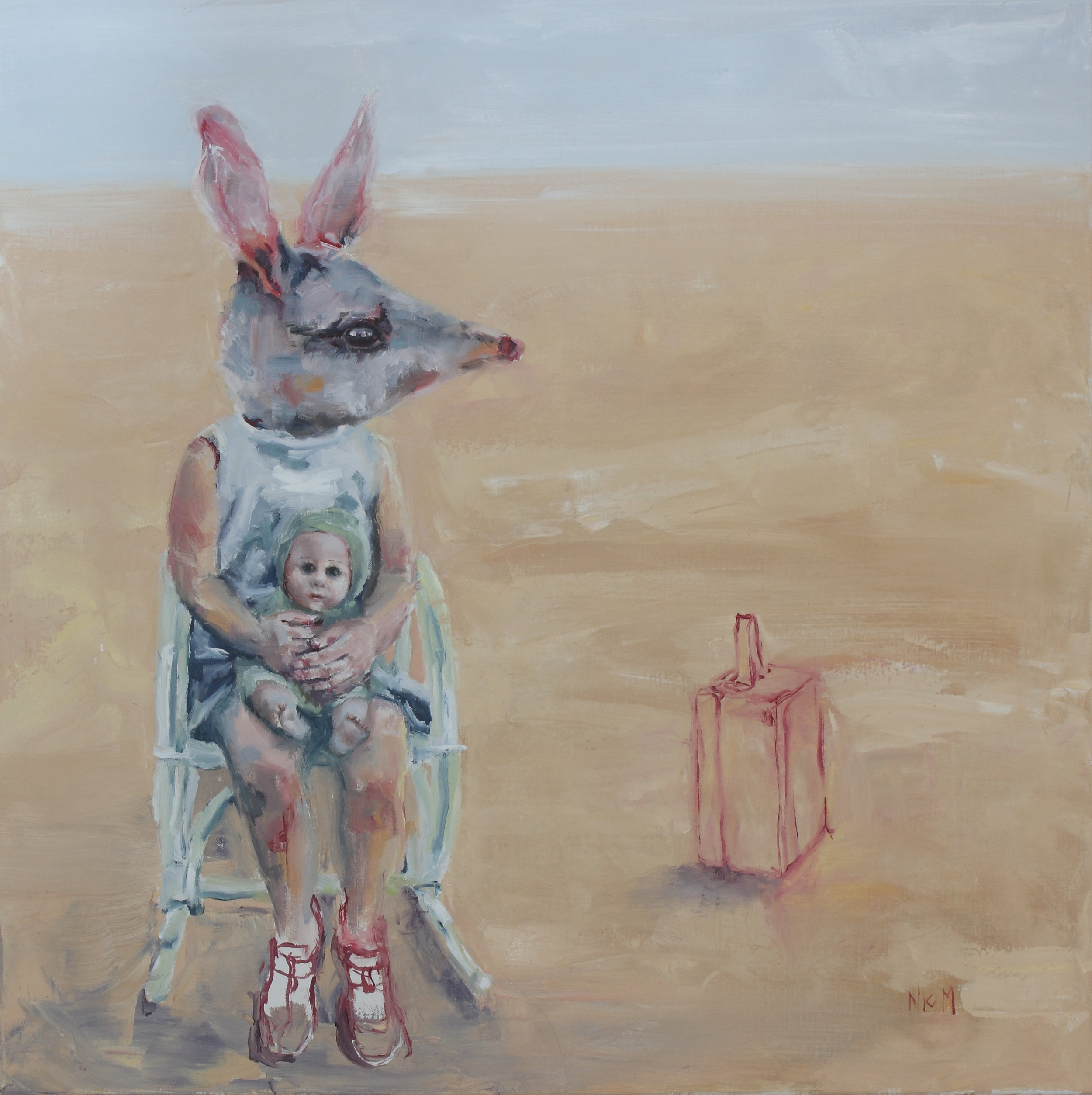 01 nic mason_bilby bilbi rocking and waiting_oil on canvas_2016_76x76cm.jpg