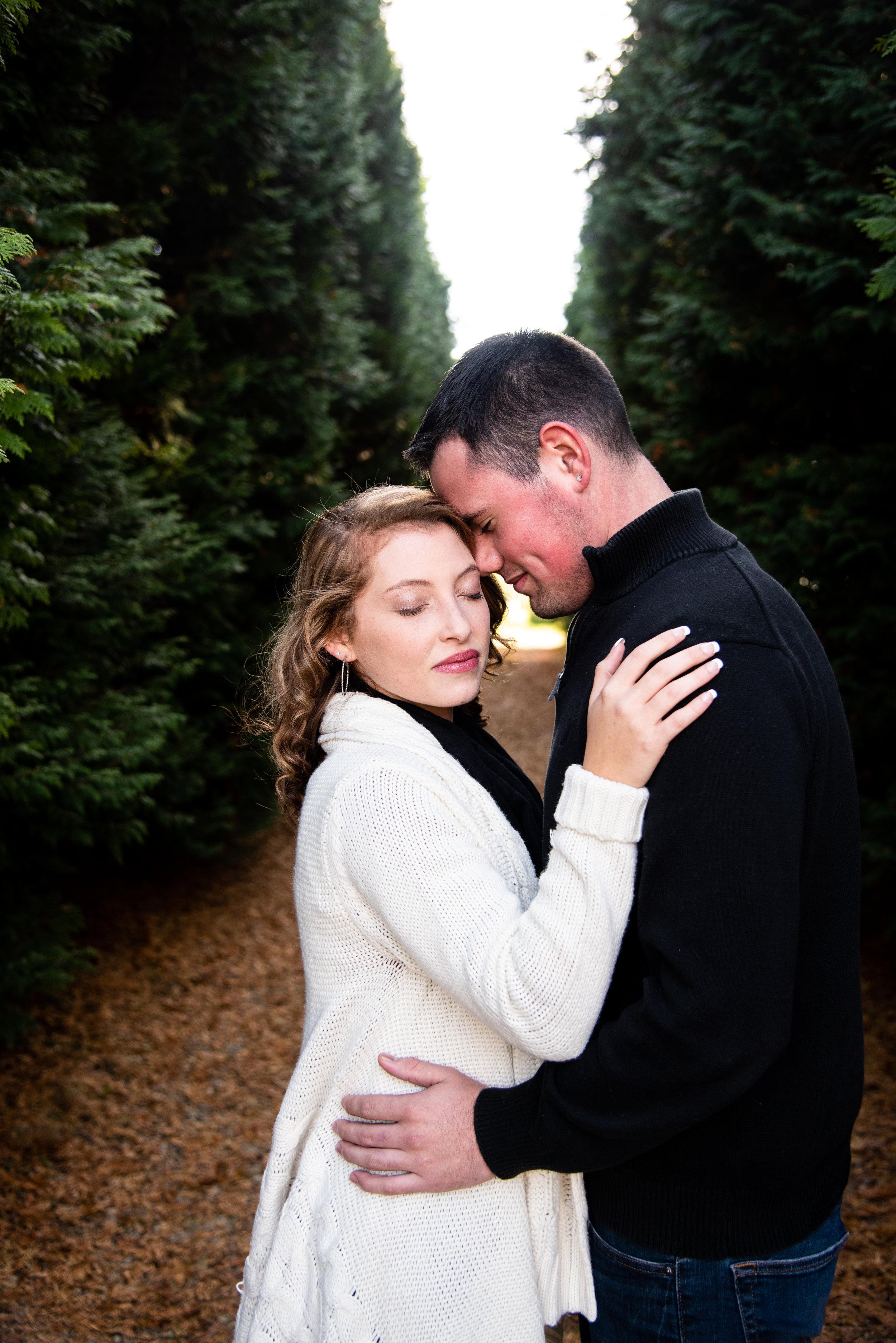 Kyla Jo Photography Muncie Indiana Photographer couple anniversary photography Whitetail Tree Farm