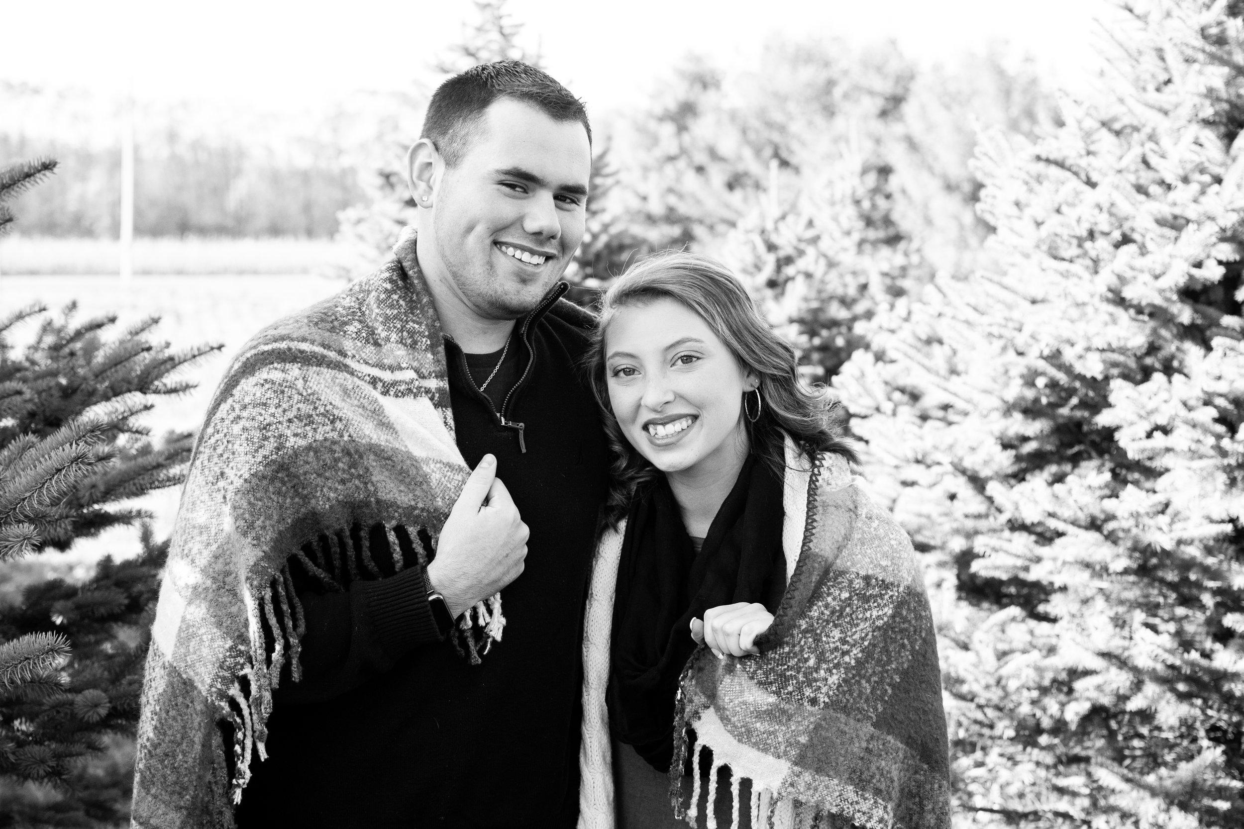 Kyla Jo Photography Muncie Indiana Photographer couple anniversary photography at Whitetail Tree Farm