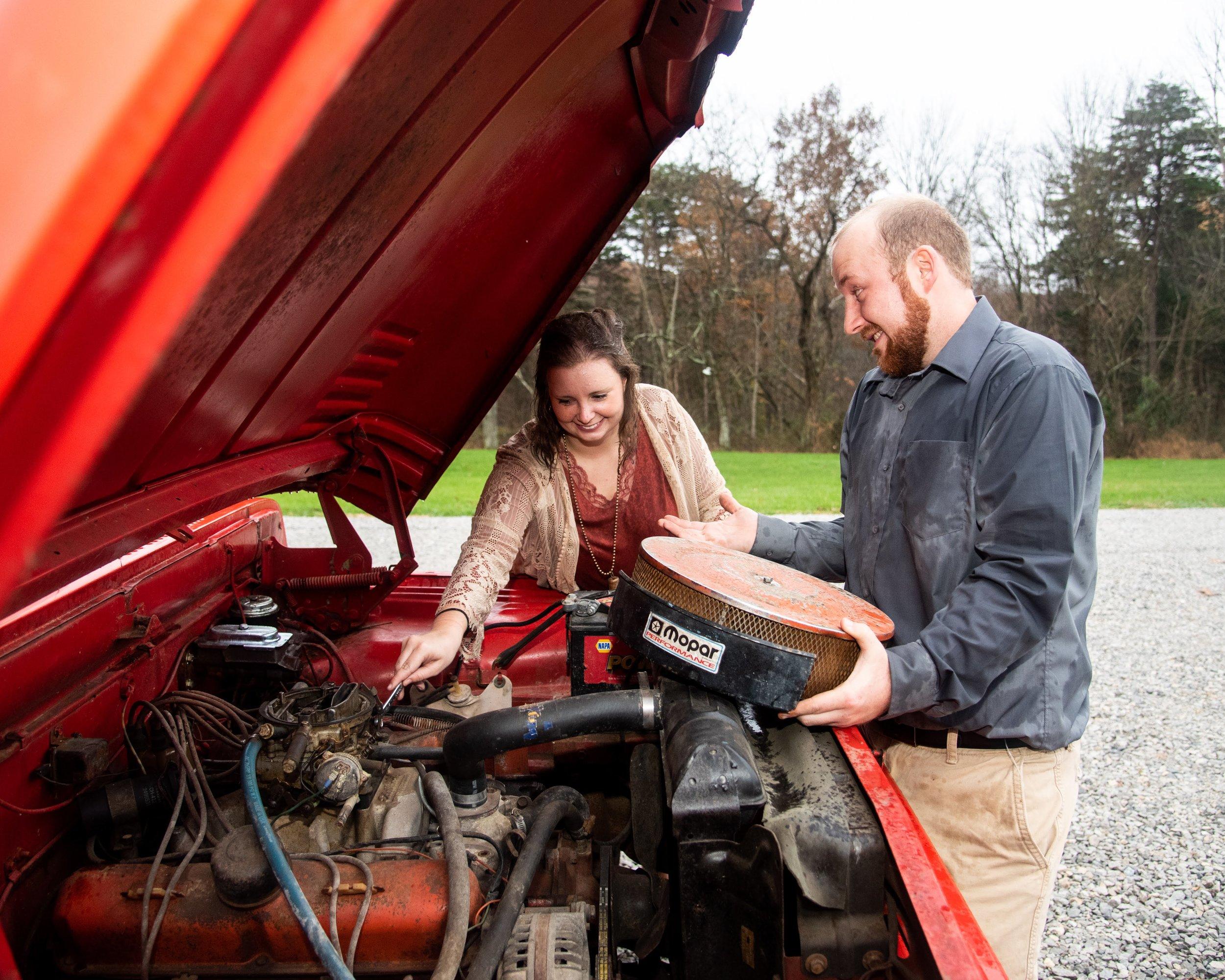 Kyla Jo Photography Engagement photographer Freetown Indiana Midwest Photographer Southern Indiana Wedding Photographer Vintage Truck