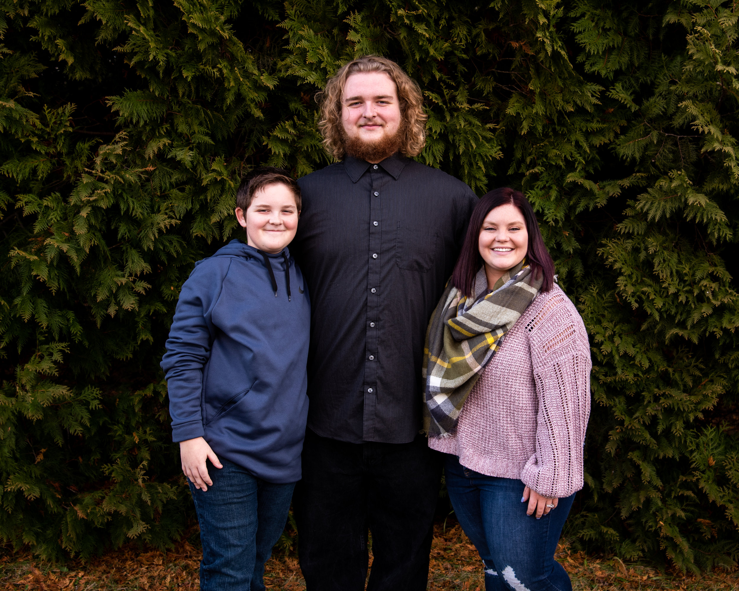 Kyla Jo Photography // Muncie Indiana Photographer // Family Photos // Whitetail Tree Farm // Siblings // Winter Photo Shoot // Christmas Tree Farm Photo Session