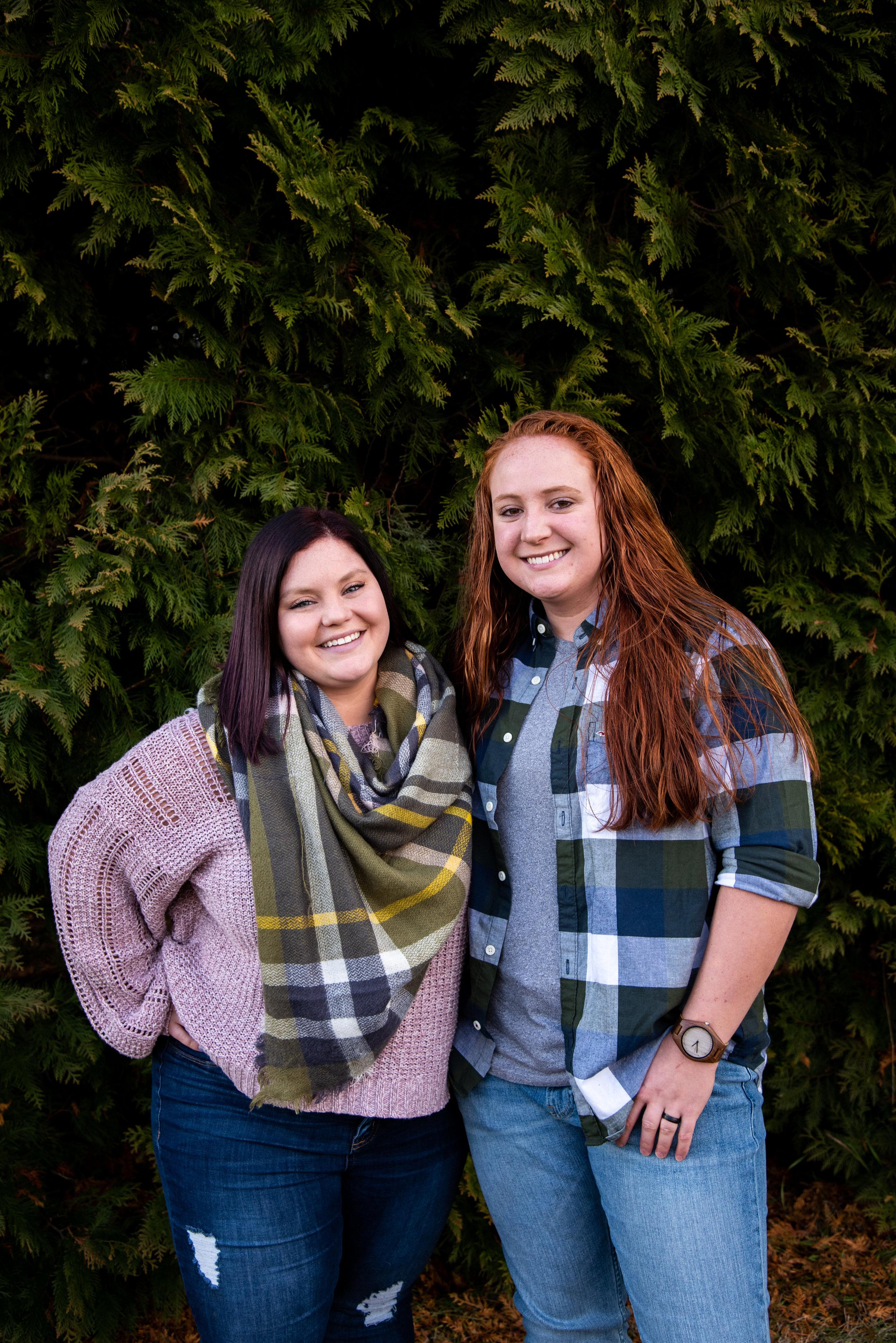 Kyla Jo Photography // Muncie Indiana Photographer // Family Photos // Whitetail Tree Farm // Wife and Wife // Winter Photo Shoot // Christmas Tree Farm Photo Session // Couples Goals