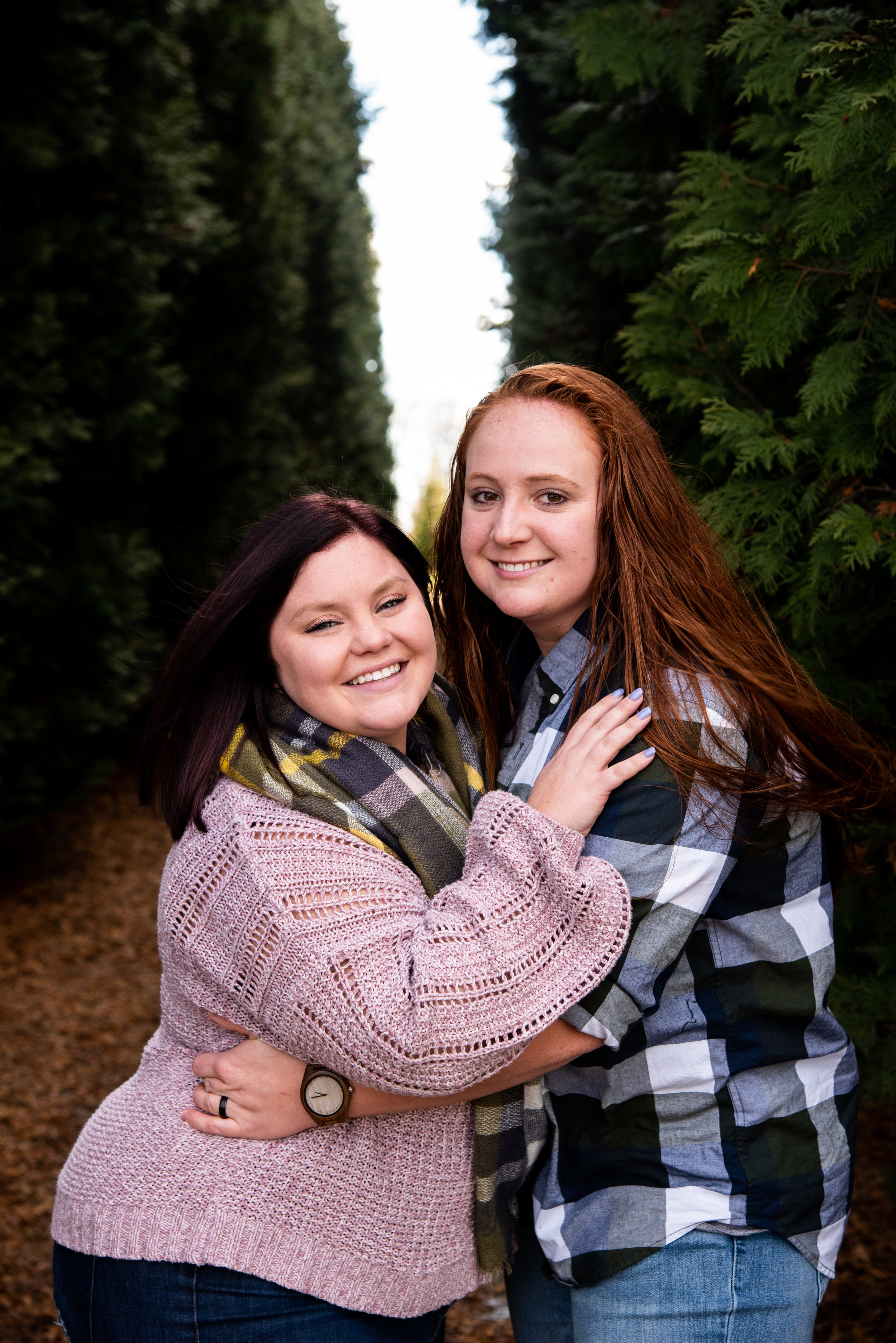 Kyla Jo Photography // Muncie Indiana Photographer // Family Photos // Whitetail Tree Farm // Wife and Wife Photo Shoot // Winter Photo Shoot // Christmas Tree Farm Photo Session