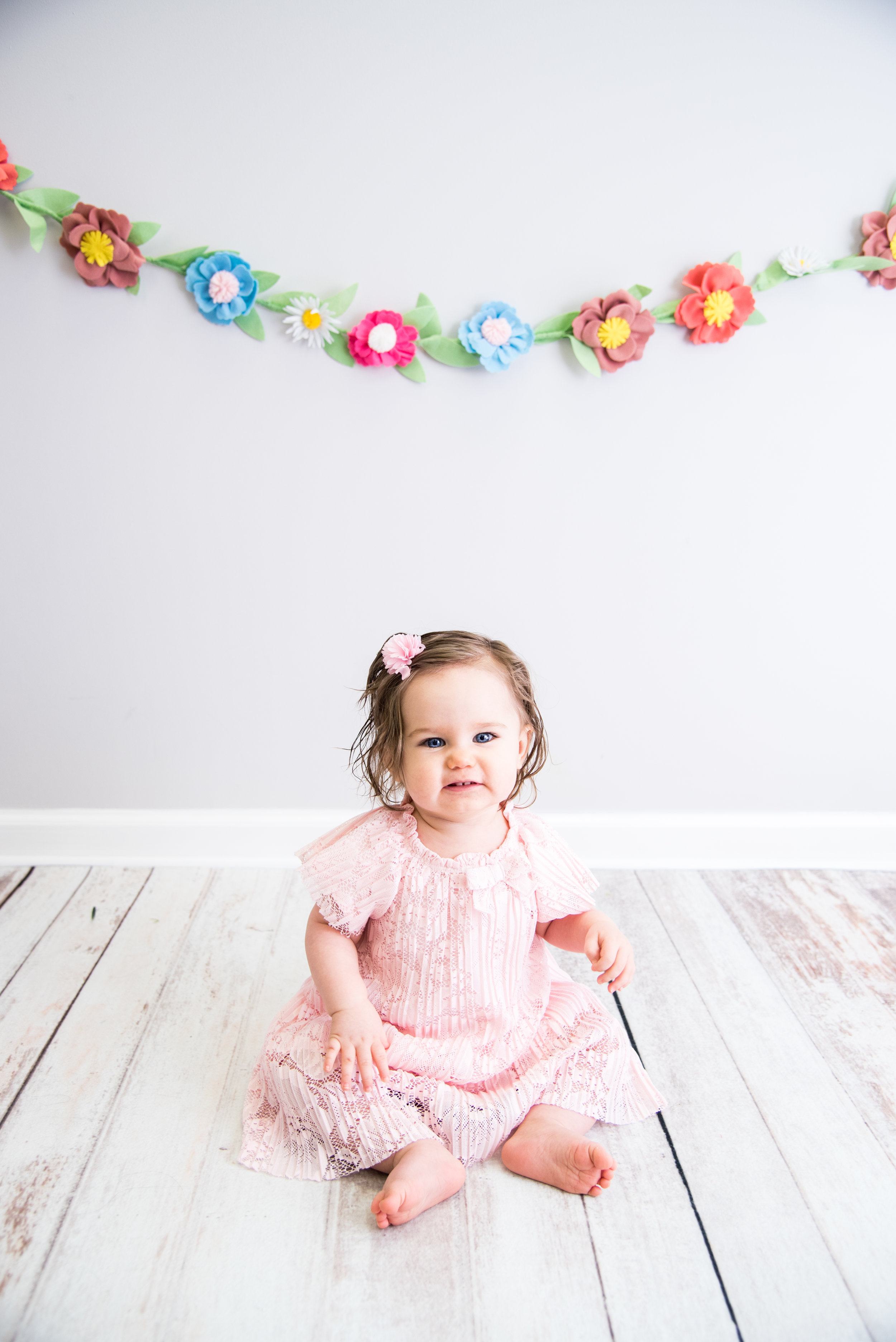 Kyla Jo Photography Studio Photography 1 year pink dress