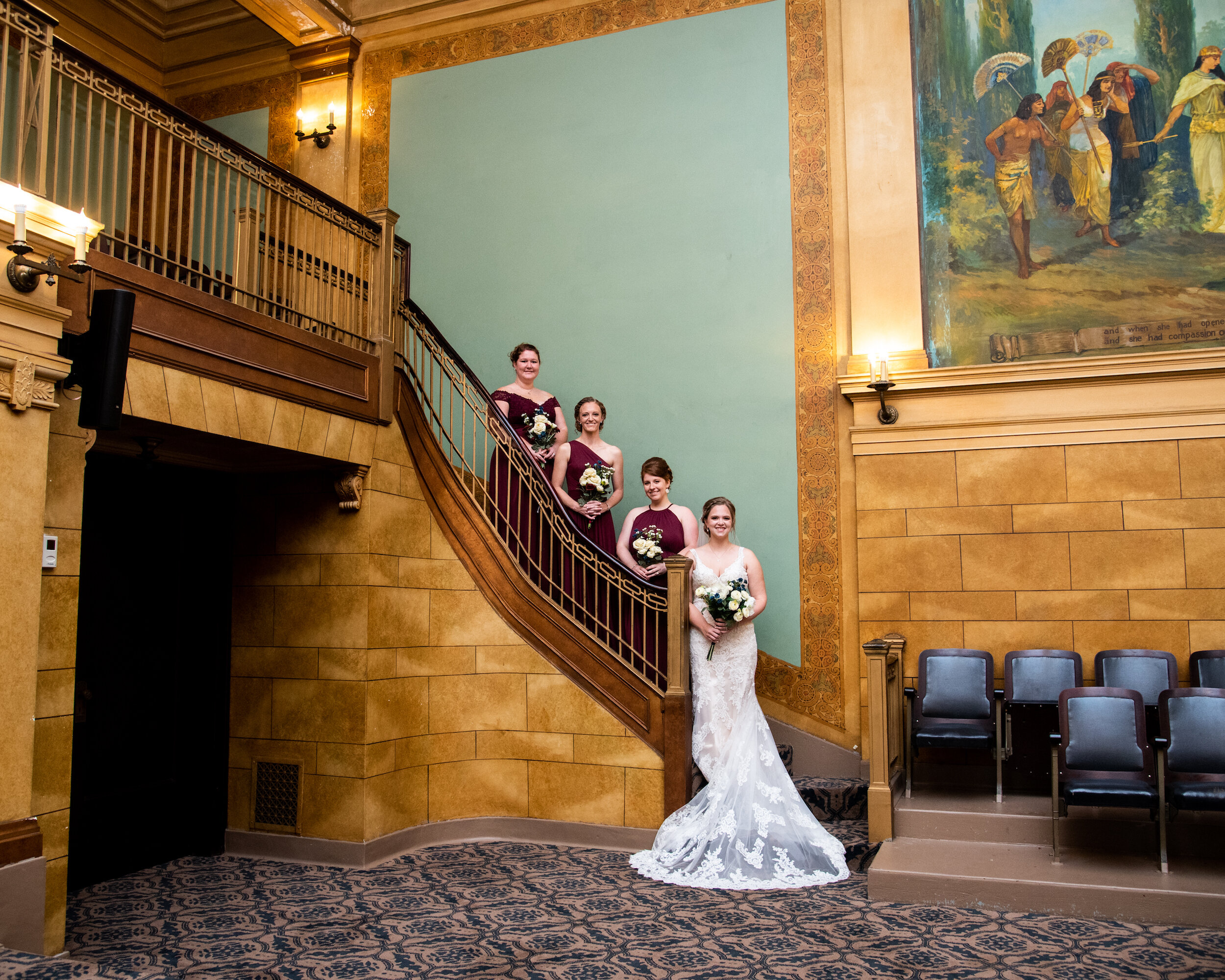 Cornerstone Center for The Arts Wedding Venue Muncie Indiana Kyla Jo Photography