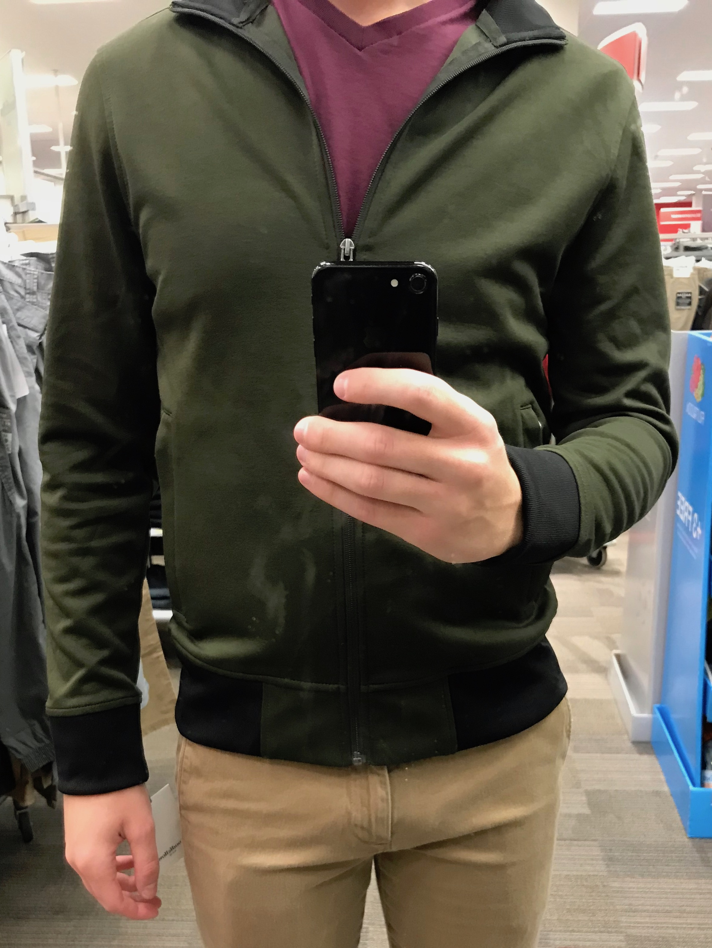 Green Track Jacket - $29.99