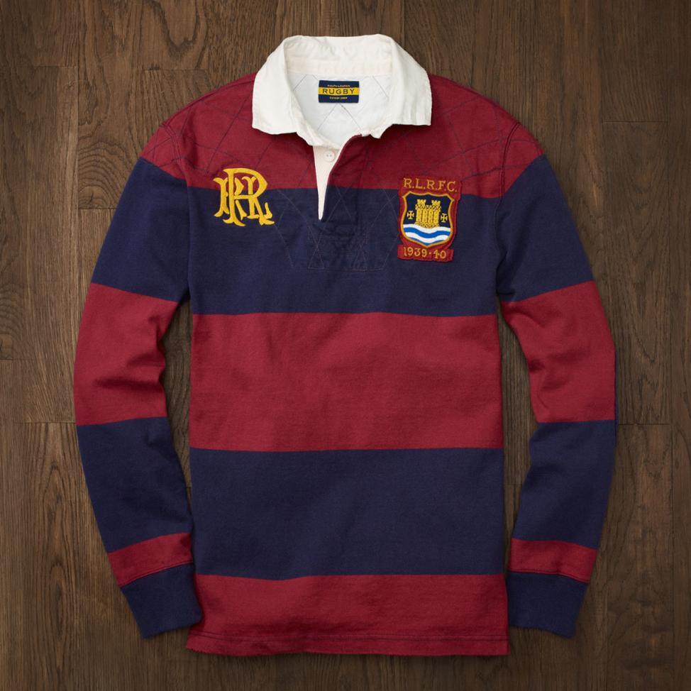 A Ralph Lauren rugby long sleeve polo shirt