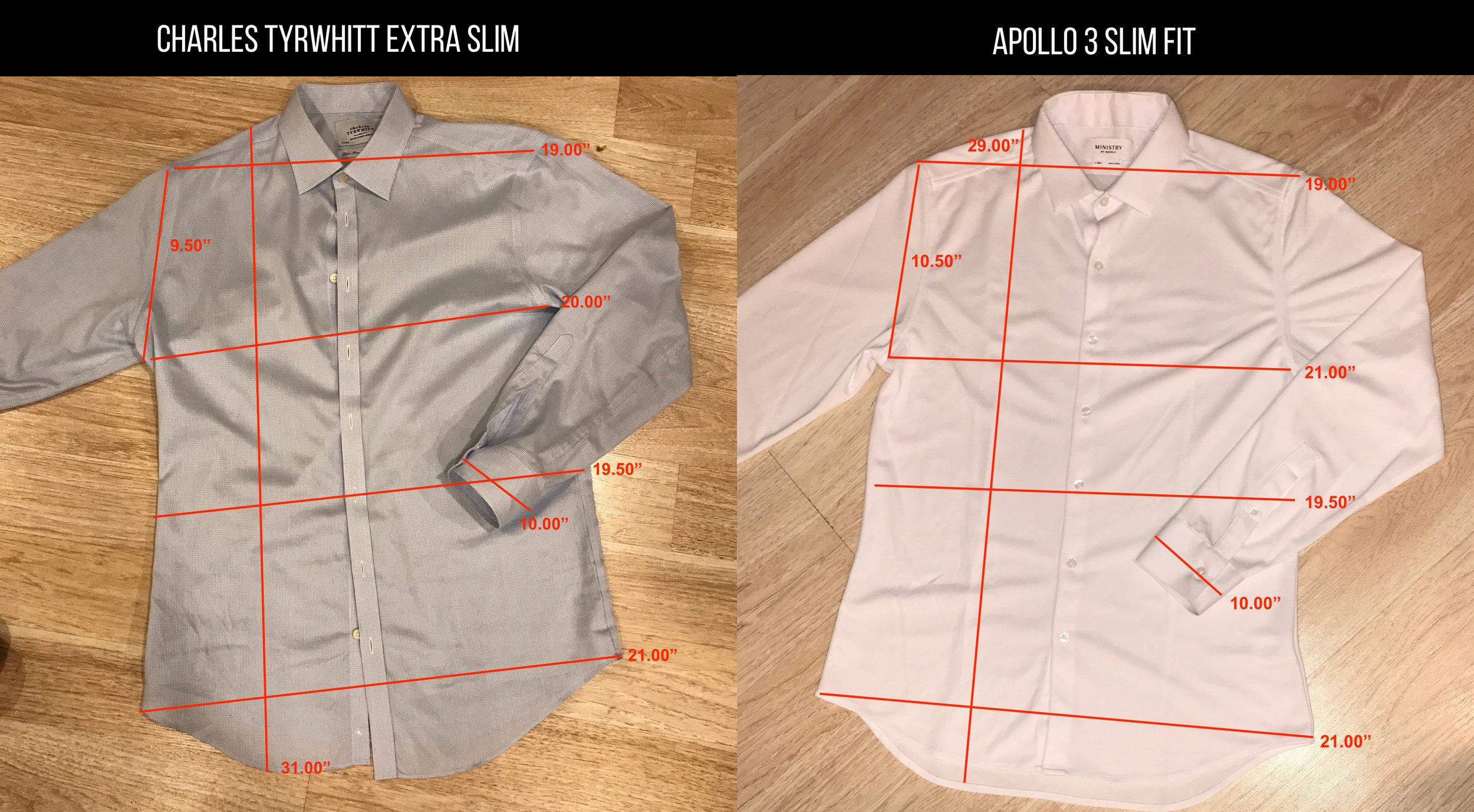 ct shirts vs apollo 3