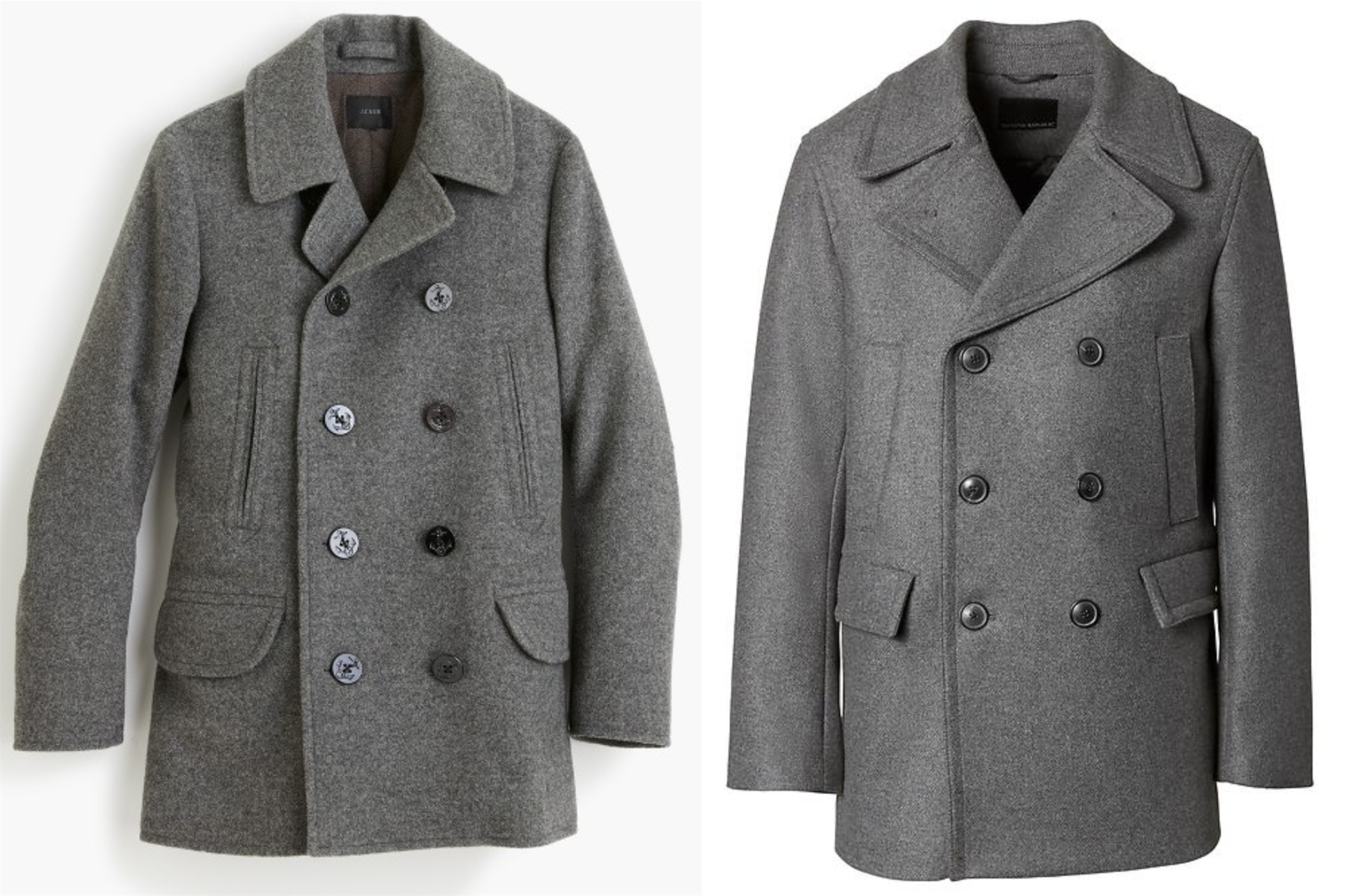 J Crew's website image on left, BR on right