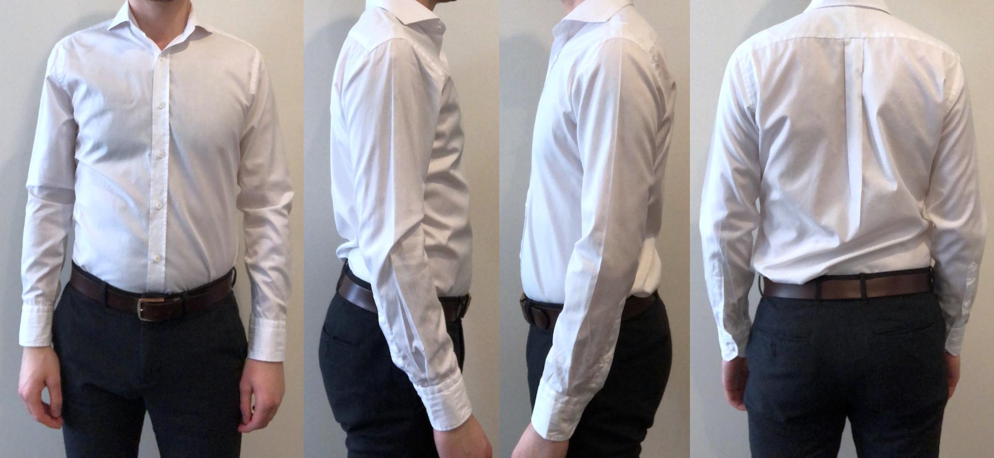 White dress shirt fit