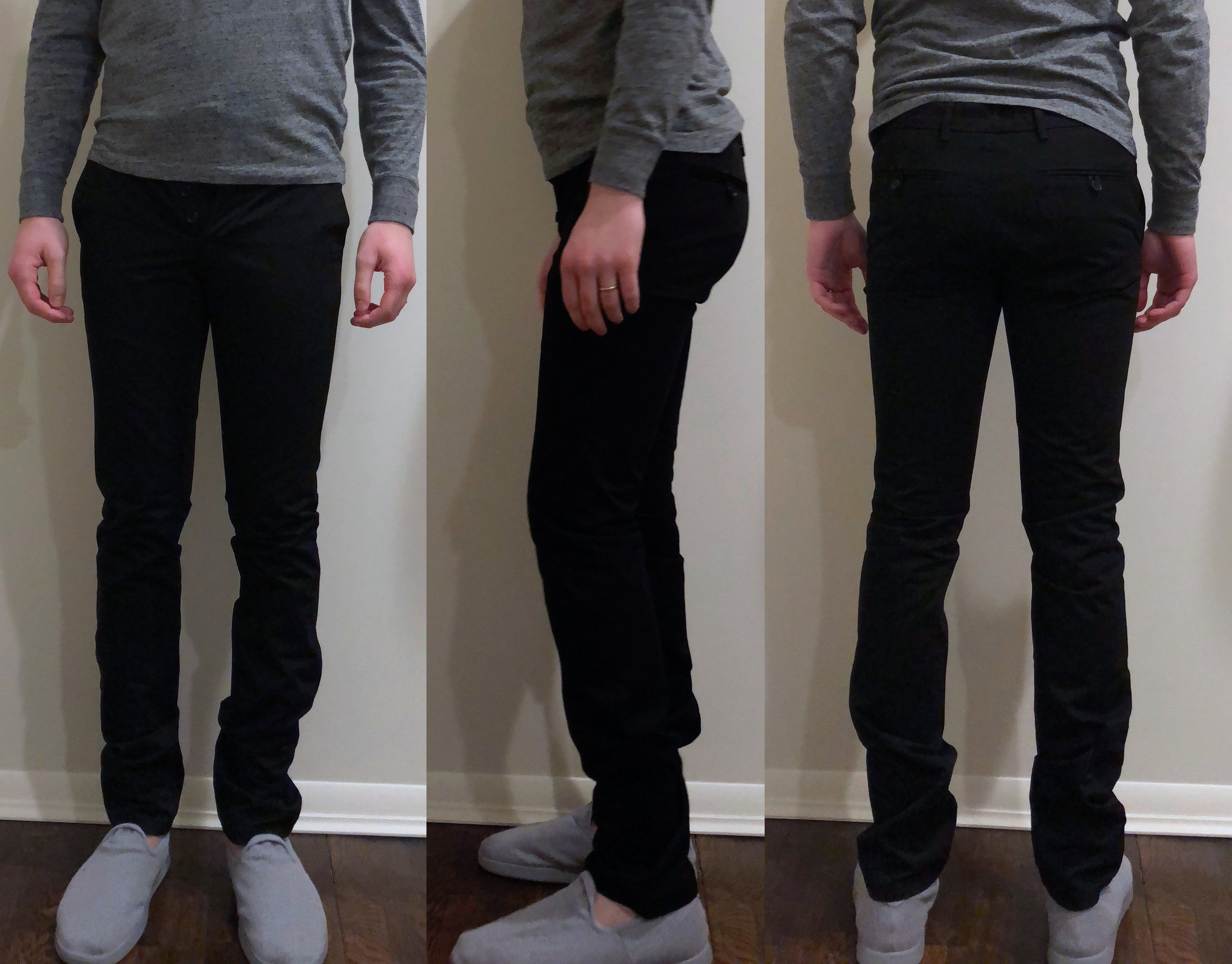 UNIS Gio skinny fit (slippers by Allbirds)
