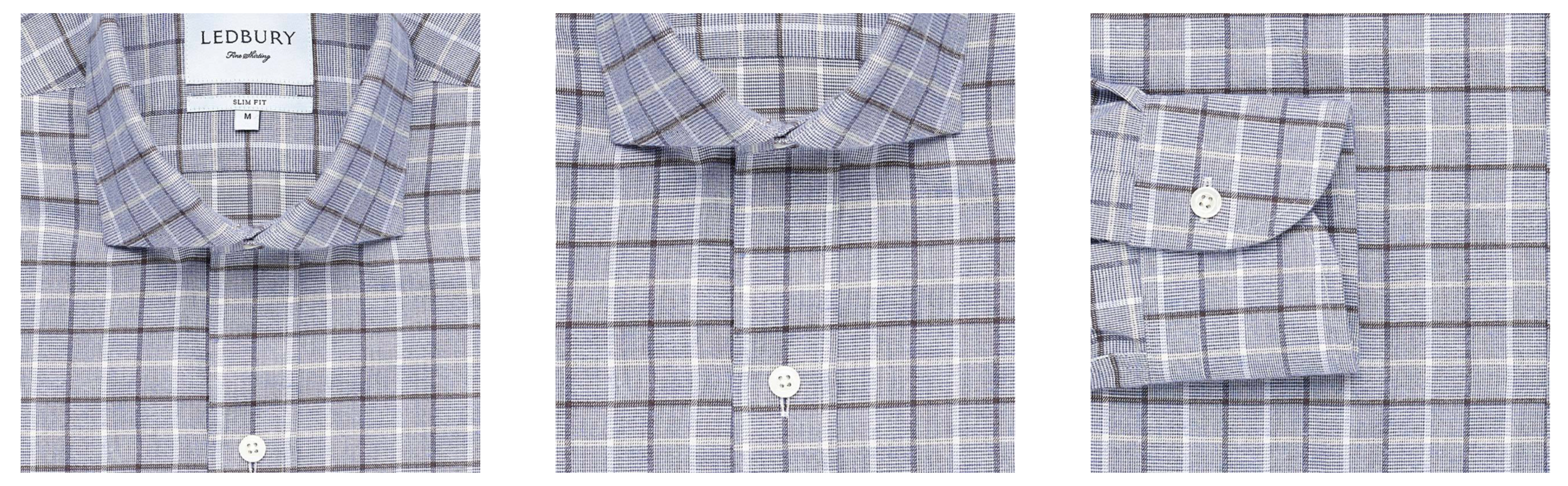 The Chalmers Check shirt up close