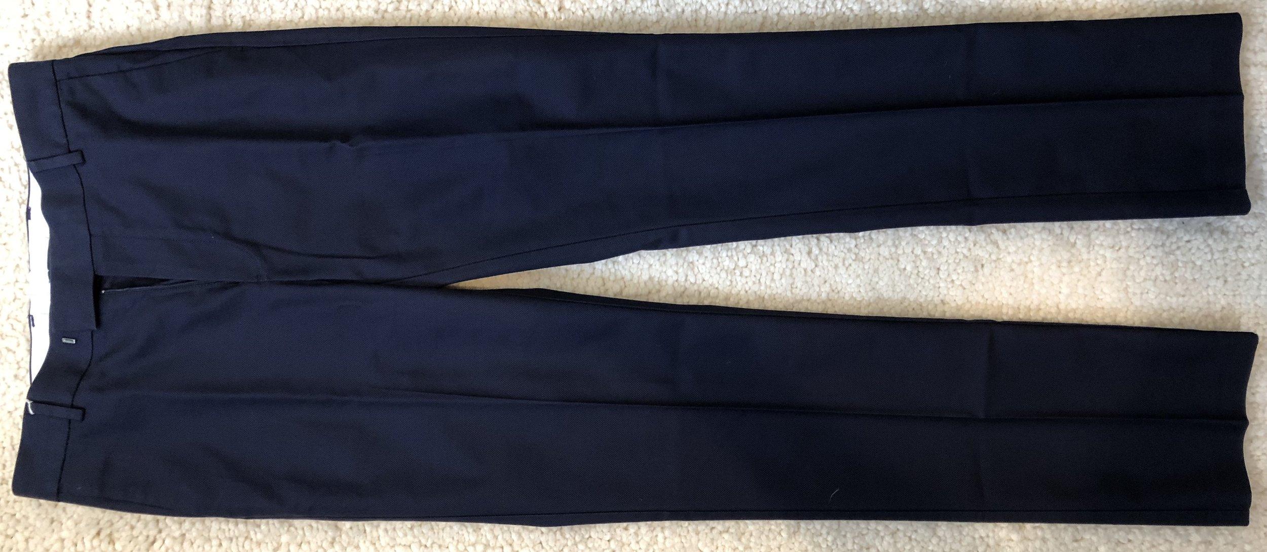 Slim dress pants in blue