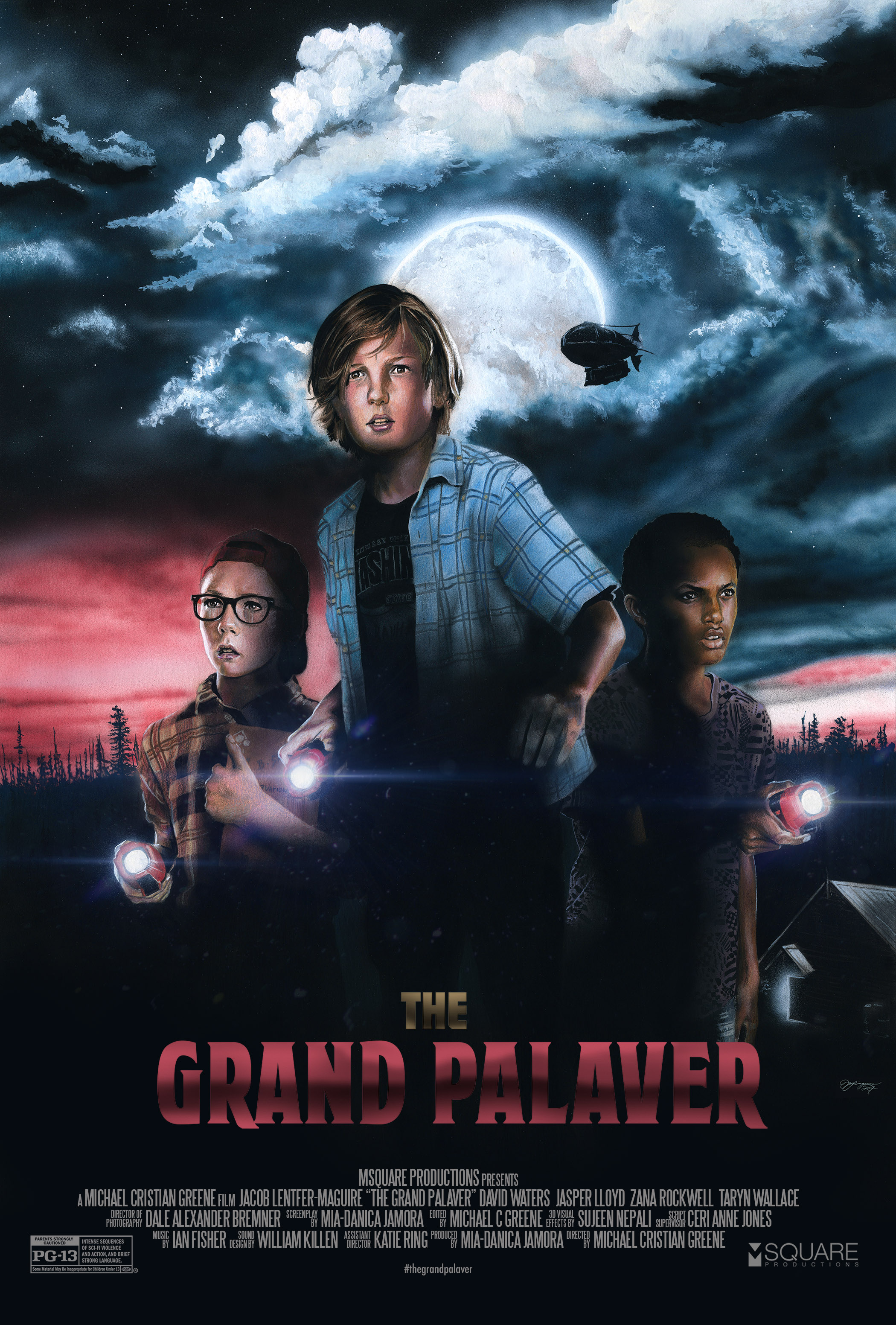 The Grand Palaver | 2017  Set in suburban America 1990's, three friends spend their summer break at Tommy's house. Tommy has recently taken notice of his old neighbour Henry and the strange items in his backyard. Over the course of two days the kids uncover an unsettling phenomenal truth to Henry's past.