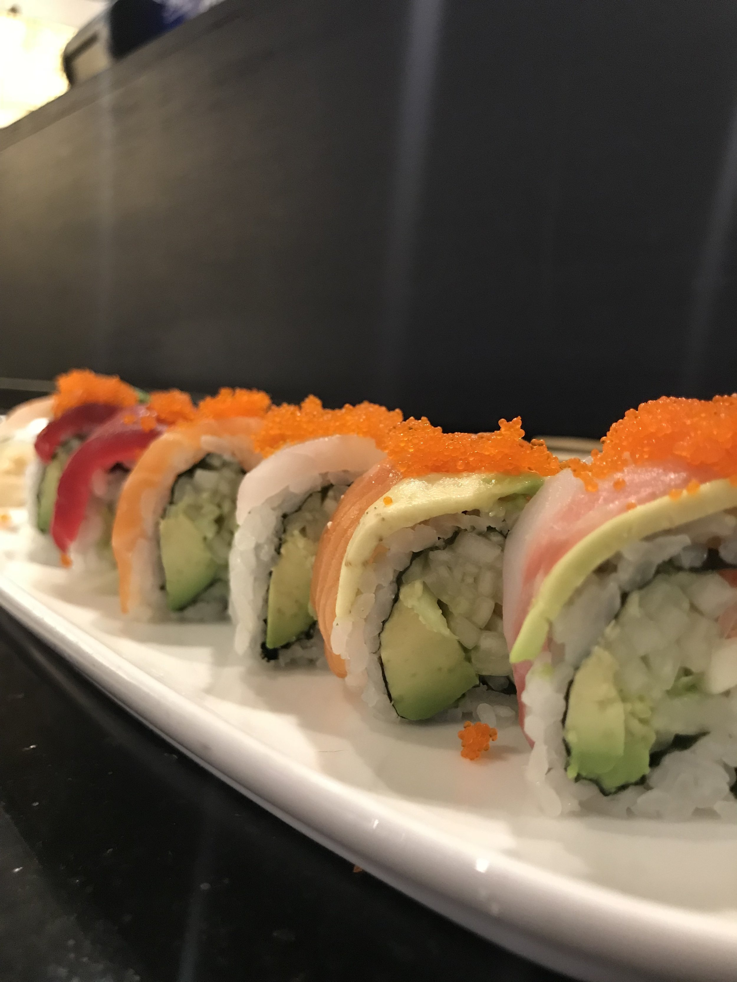 The rainbow roll is one of my favorites.