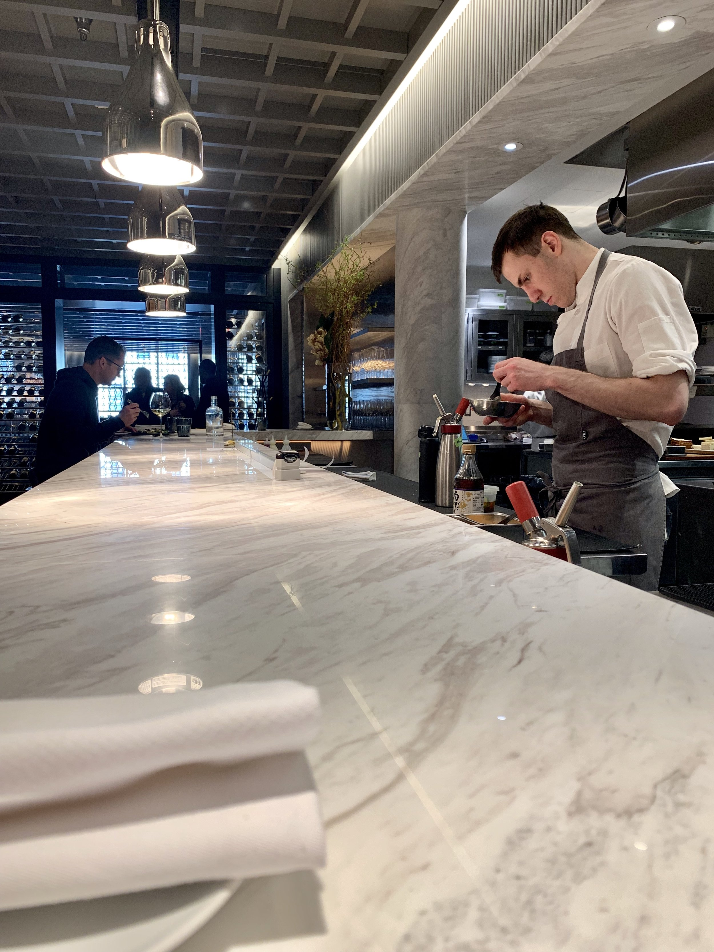 Chef's counter at Intersect by Lexus