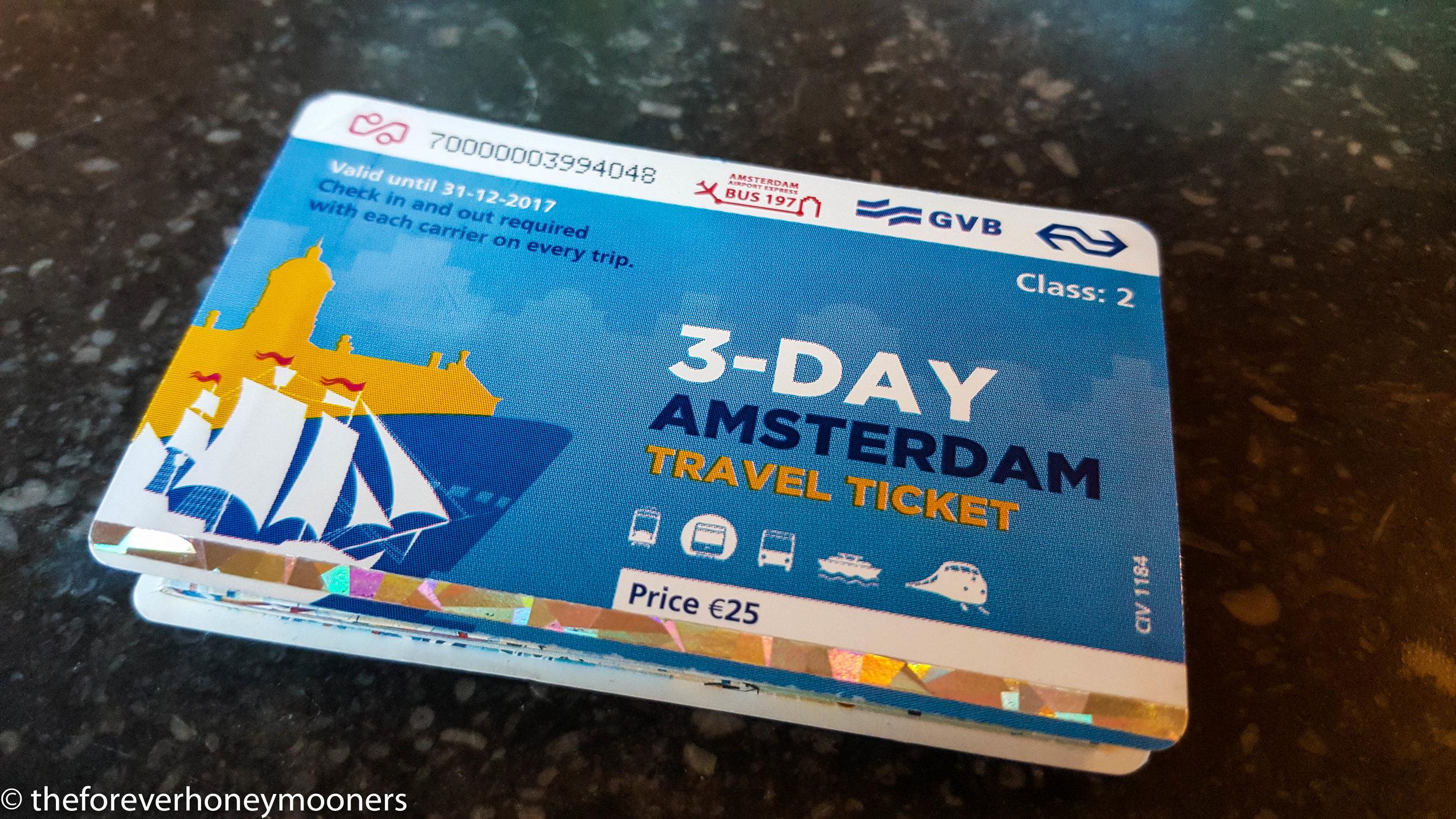 Amsterdam 3-Day Pass