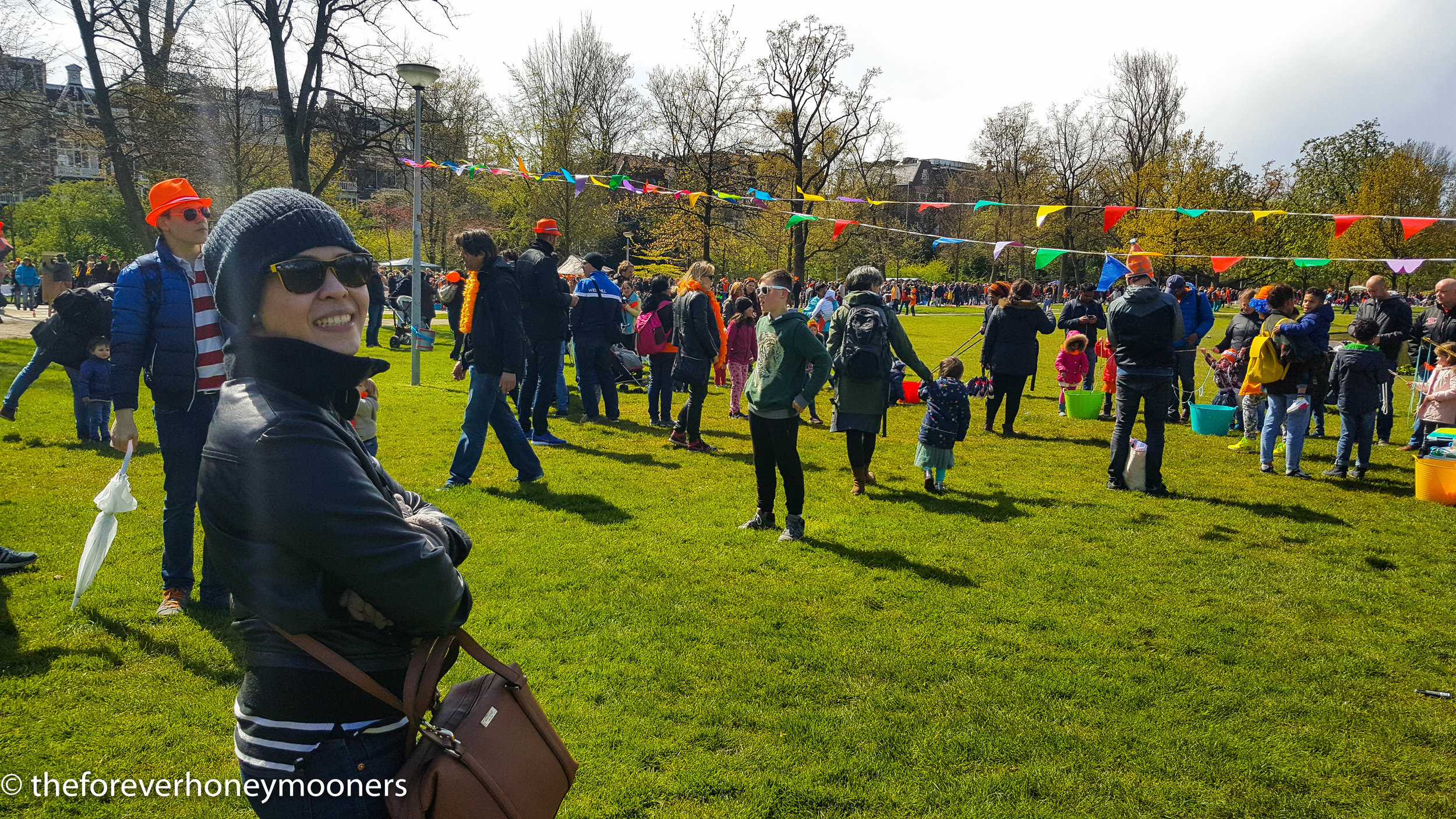 Festivities at Vondelpark on King's Day