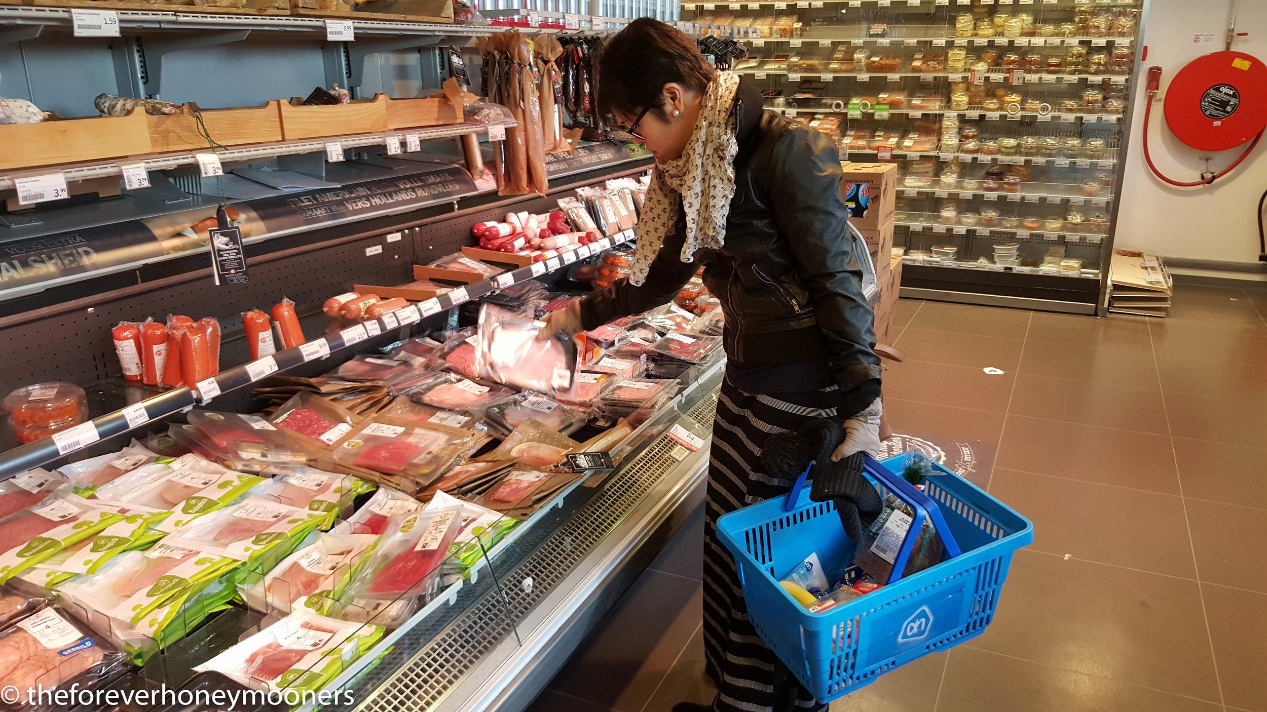 Grocery shopping for breakfast
