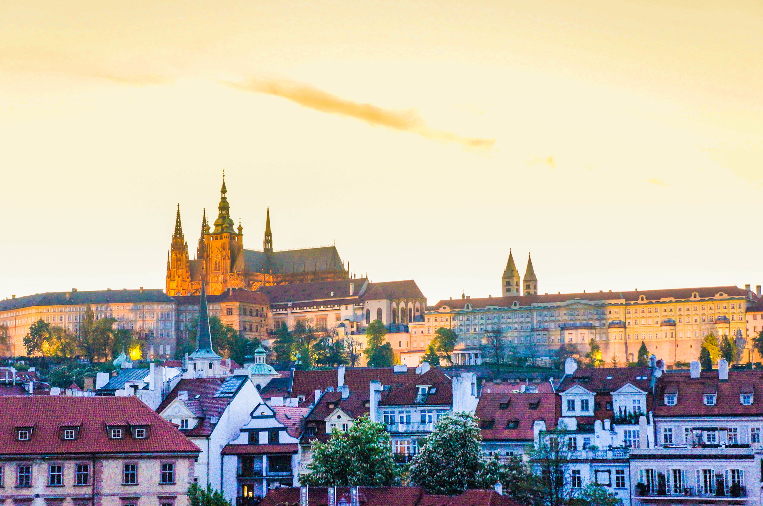 Prague Castle from afar
