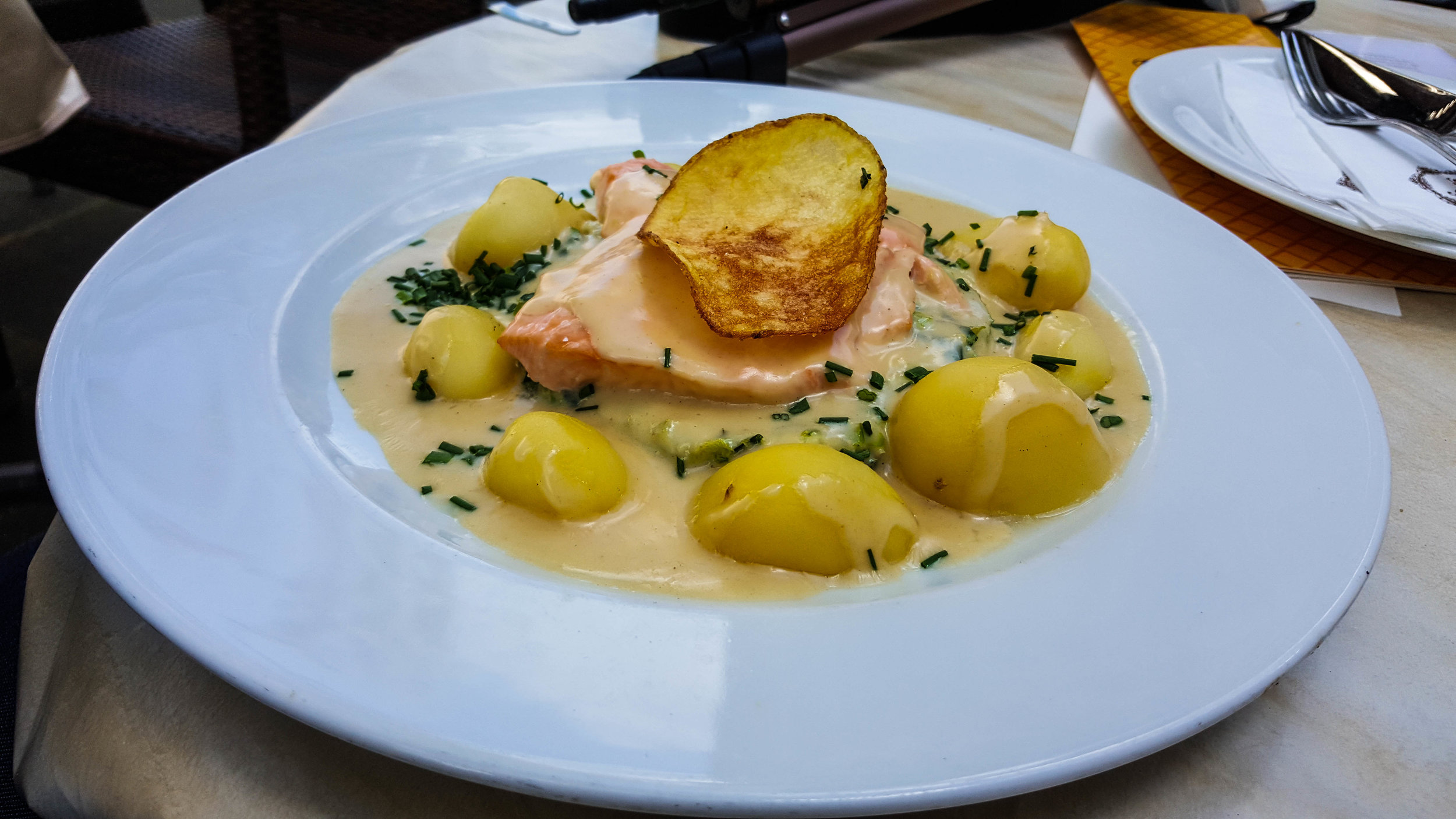Salmon and (again) potatoes