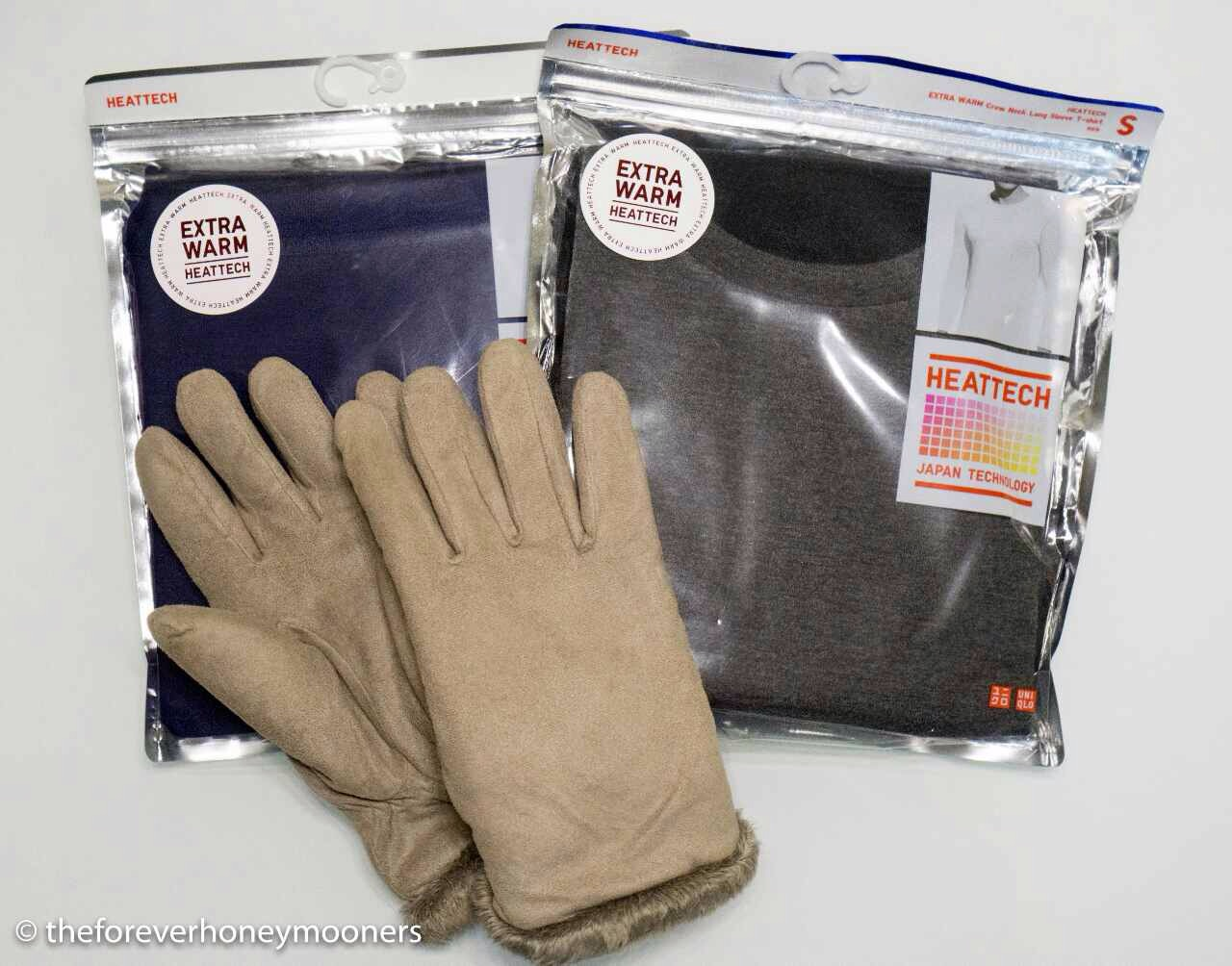 Our base layer and my gloves which weren't too helpful :)