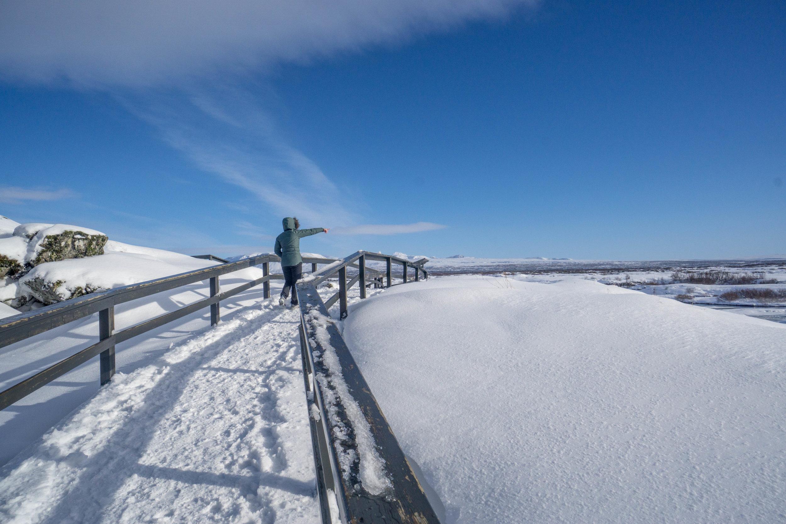 Walking through Thingvellir