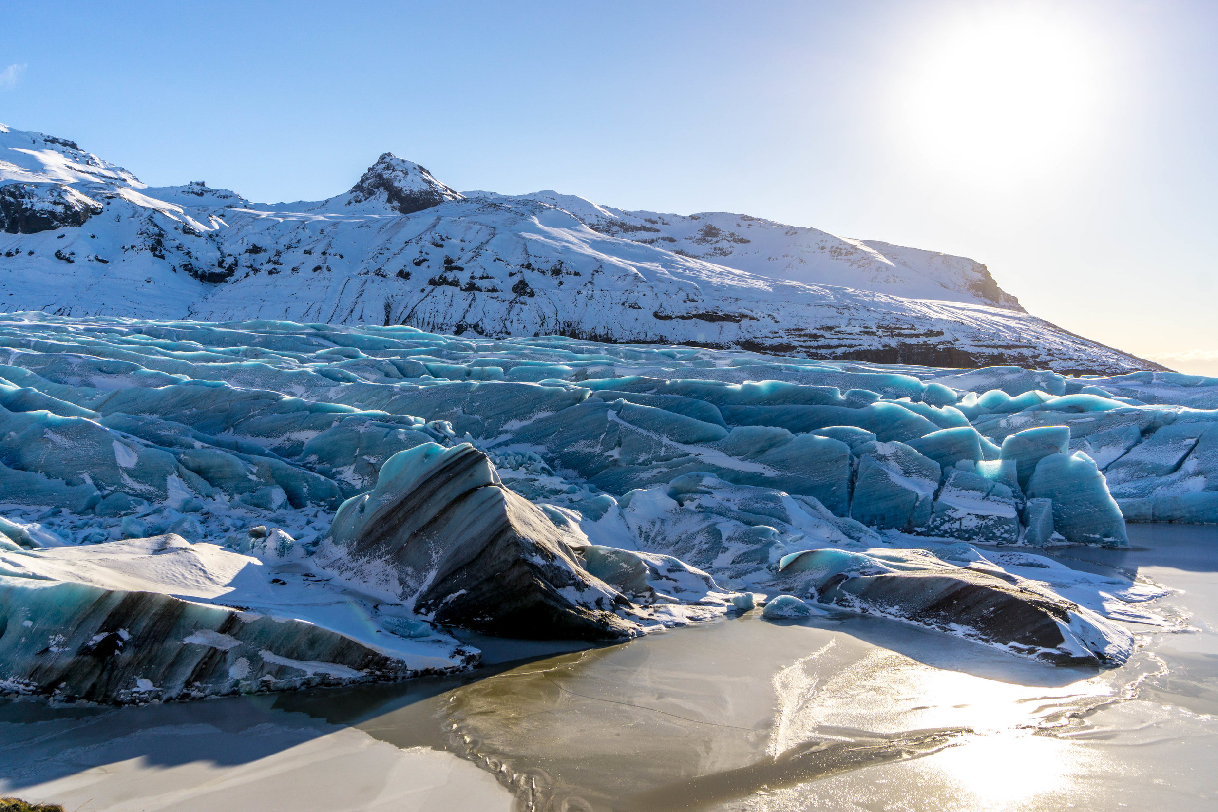 What a surreal sight. Glaciers in Jökulsárlón.