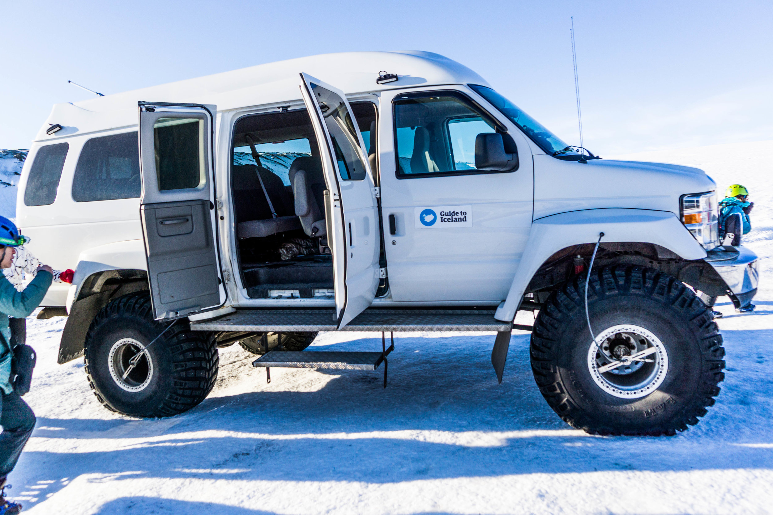 Monster truck for one heck of a glacier ride