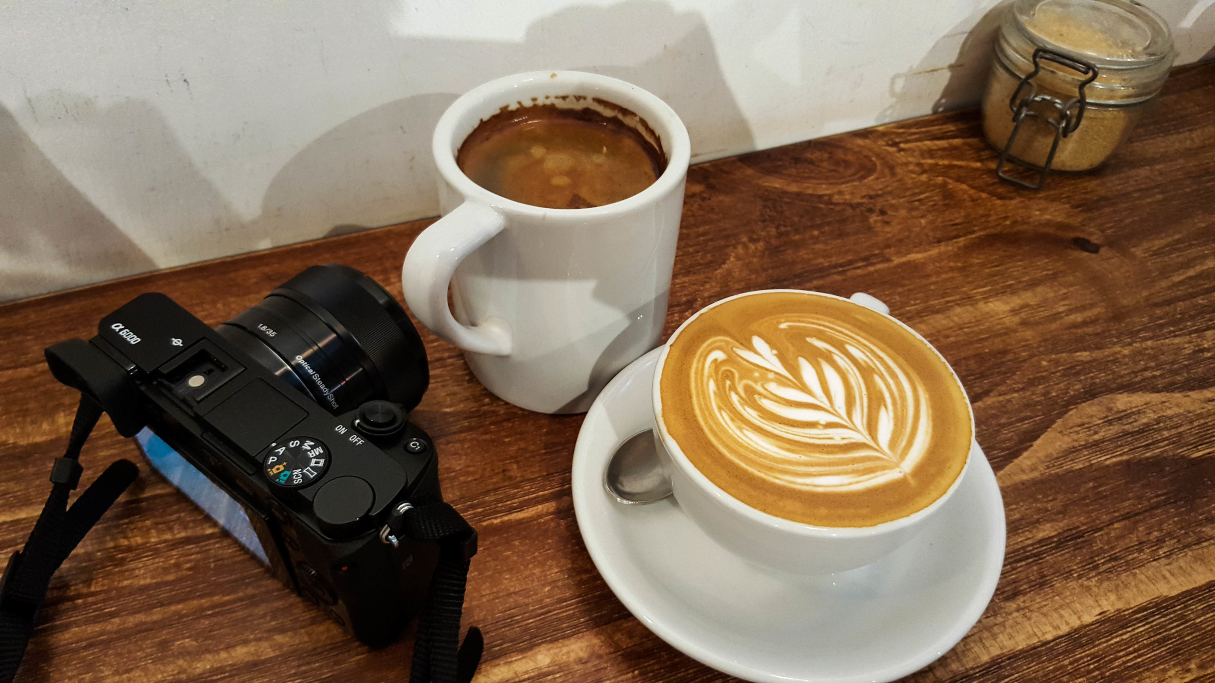 Today's essentials: Americano, Flat White, and our trusted Sony